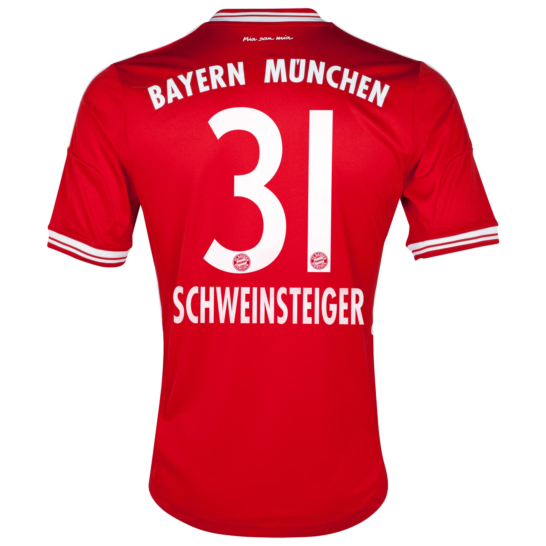 Bayern Munich Home Shirt 2013/14 with Schweinsteiger 31 printing