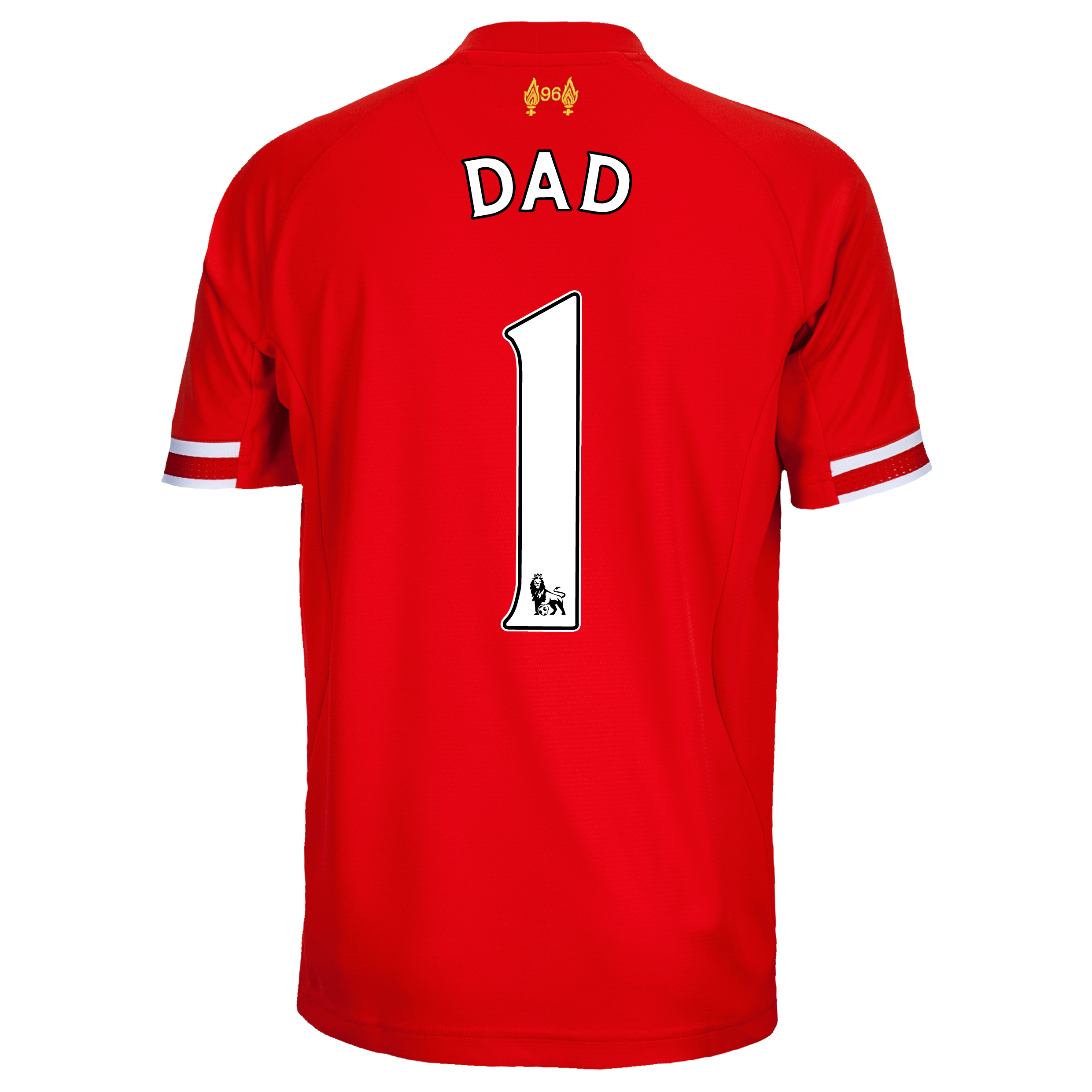 Liverpool Home Shirt 2013/14 with Dad 1 printing