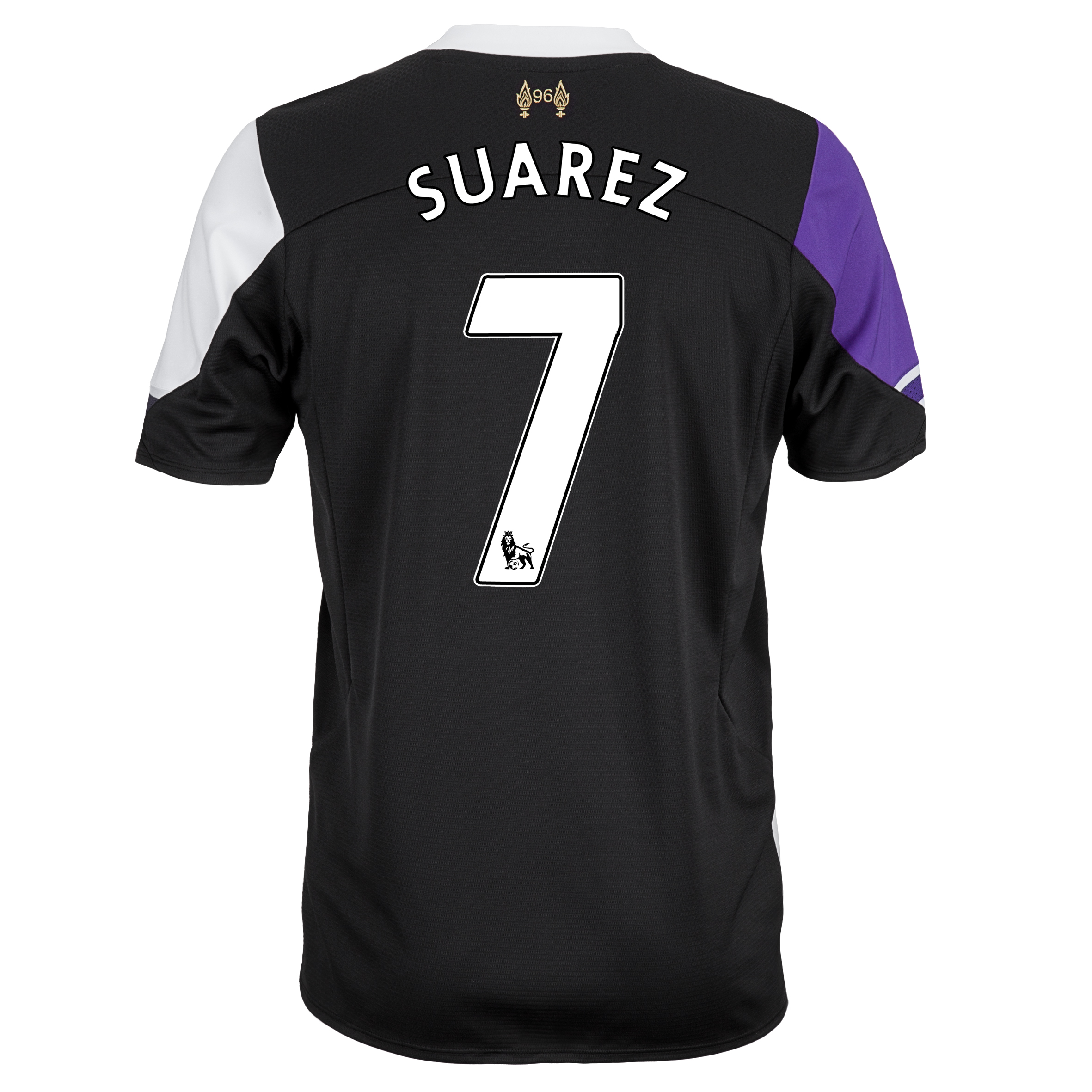 Liverpool Third Shirt 2013/14 with Suarez 7 printing