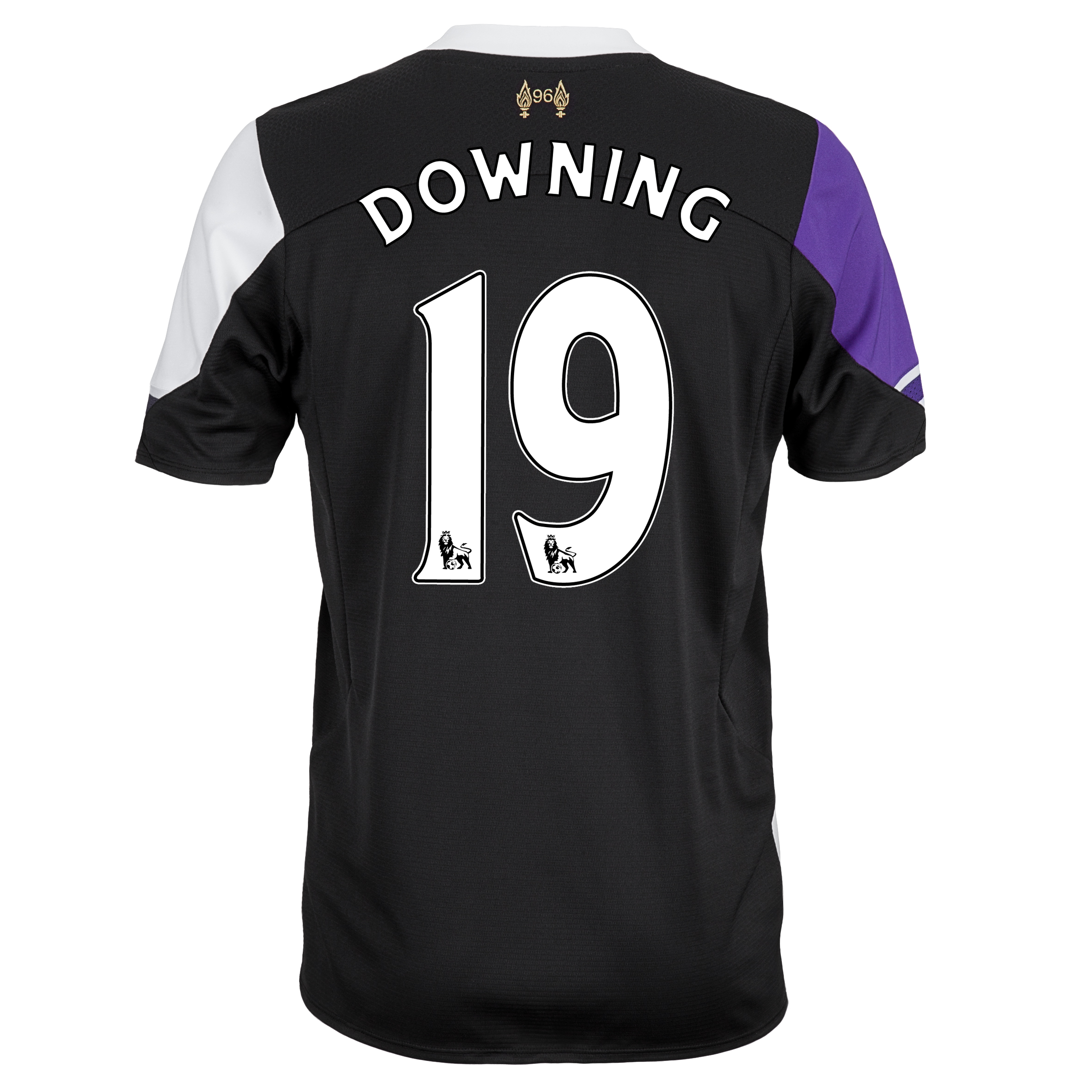 Liverpool Third Shirt 2013/14 with Downing 19 printing