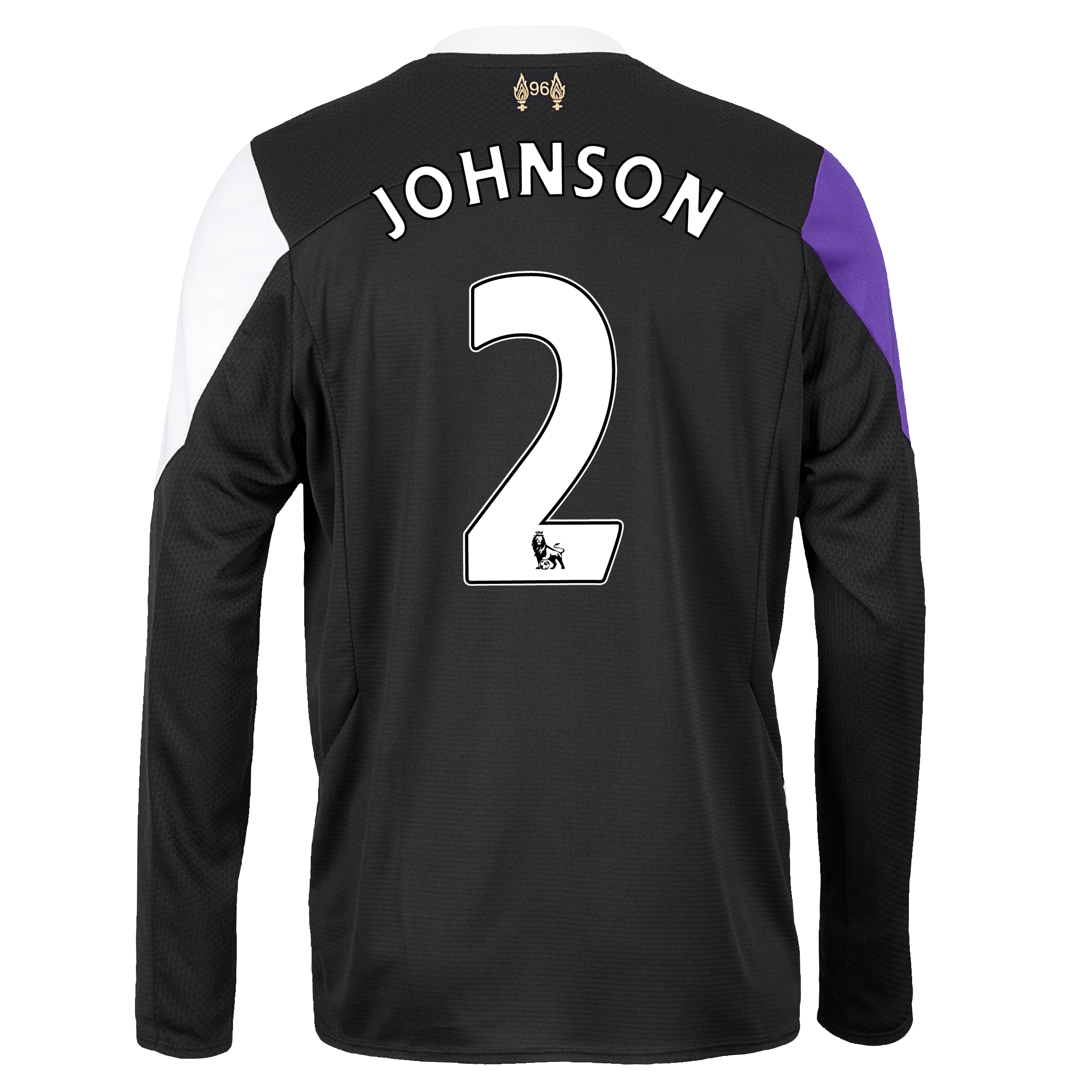 Liverpool Third Shirt 2013/14 - Long Sleeve with Johnson 2 printing