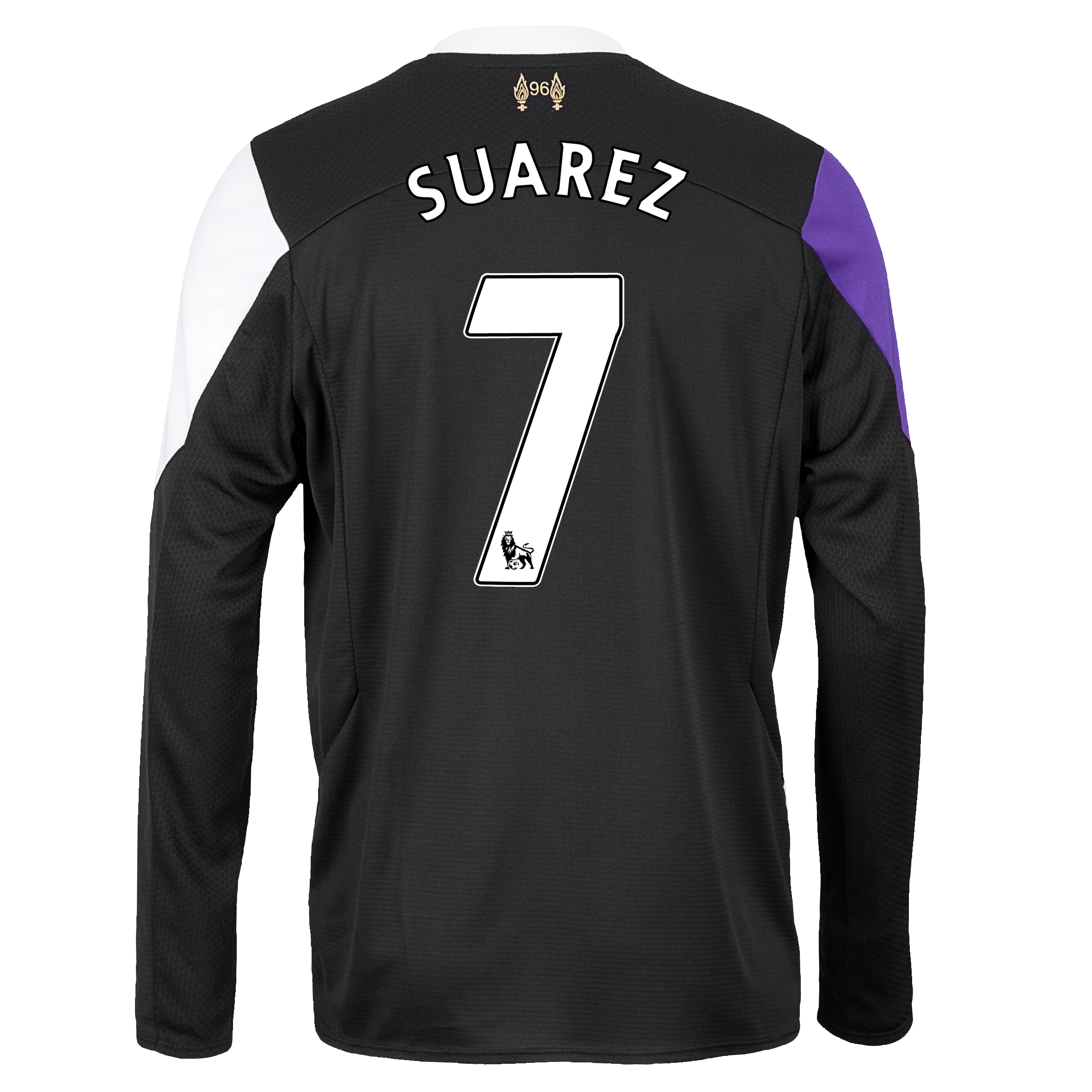 Liverpool Third Shirt 2013/14 - Long Sleeve with Suarez 7 printing