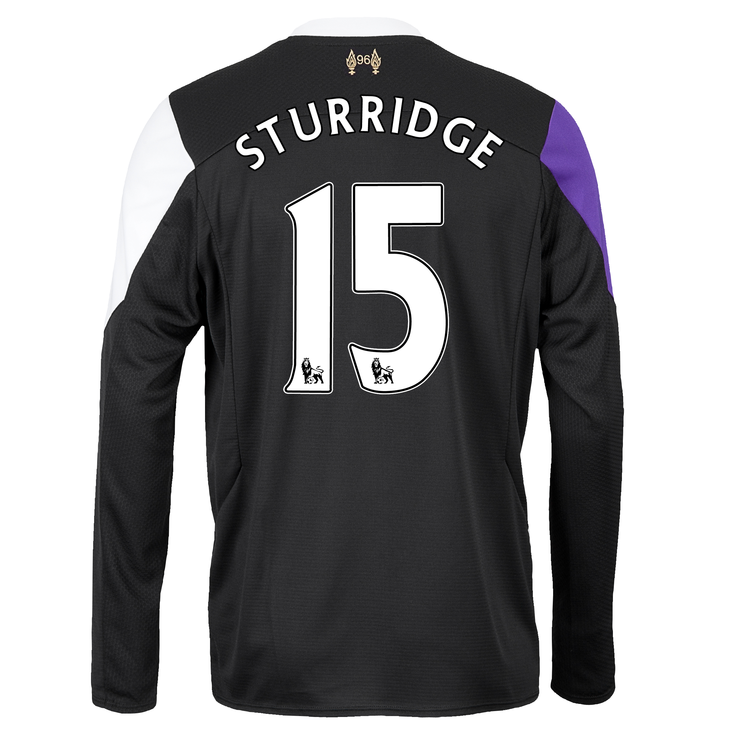 Liverpool Third Shirt 2013/14 - Long Sleeve with Sturridge 15 printing