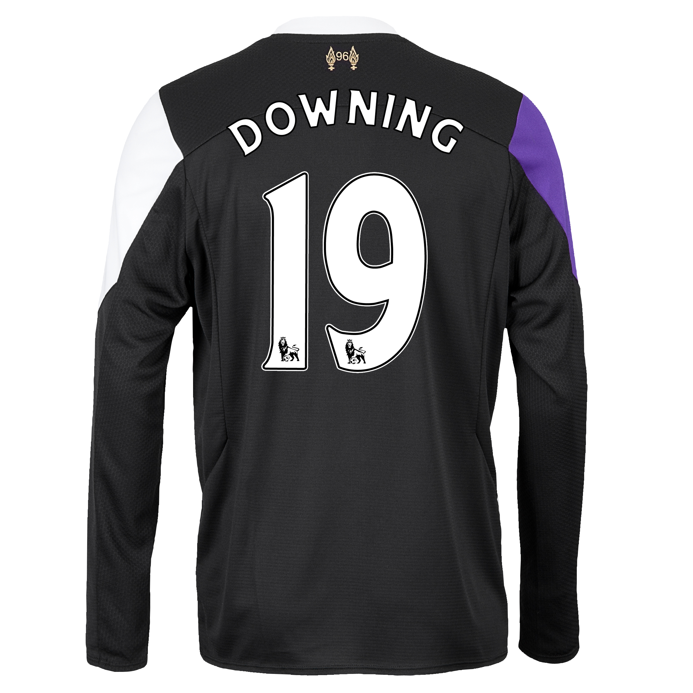 Liverpool Third Shirt 2013/14 - Long Sleeve with Downing 19 printing