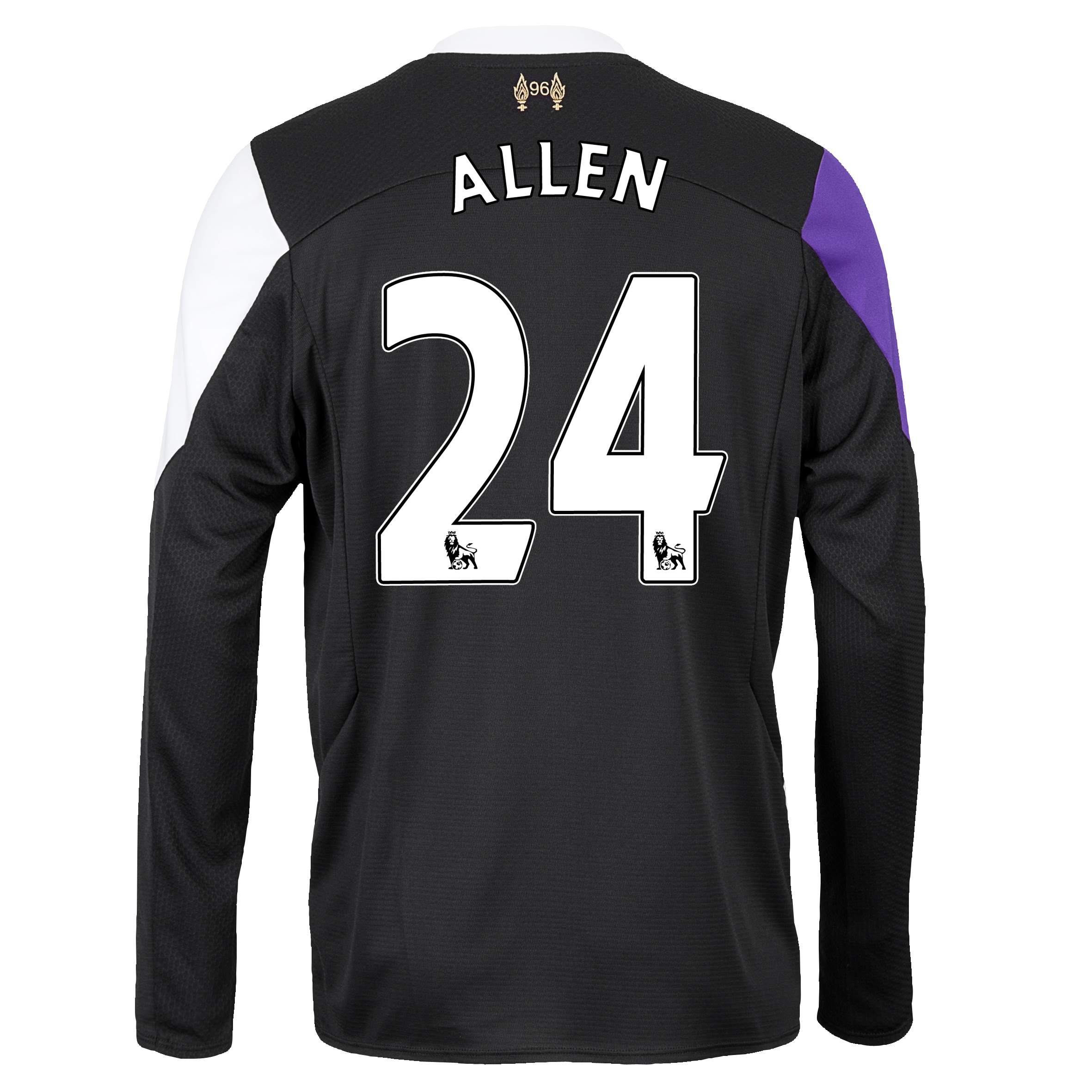 Liverpool Third Shirt 2013/14 - Long Sleeve with Allen 24 printing