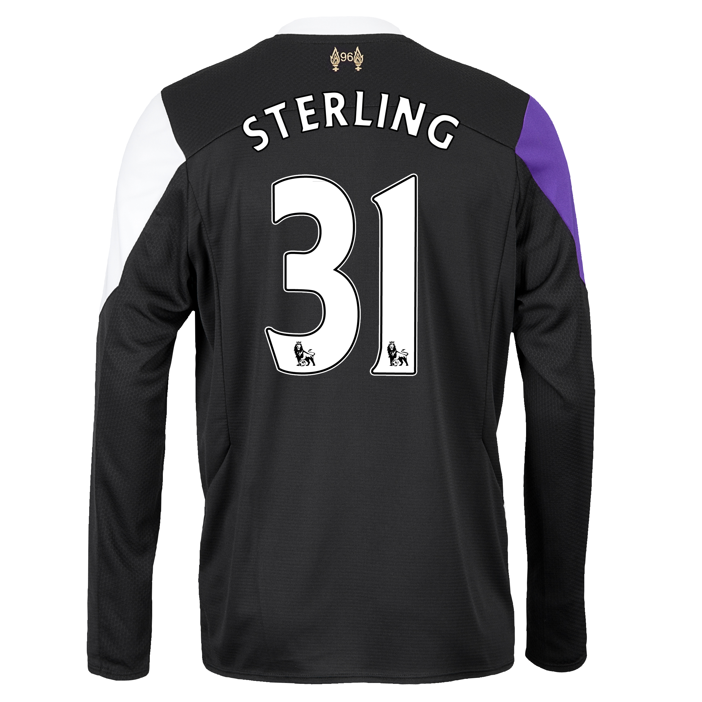 Liverpool Third Shirt 2013/14 - Long Sleeve with Sterling 31 printing