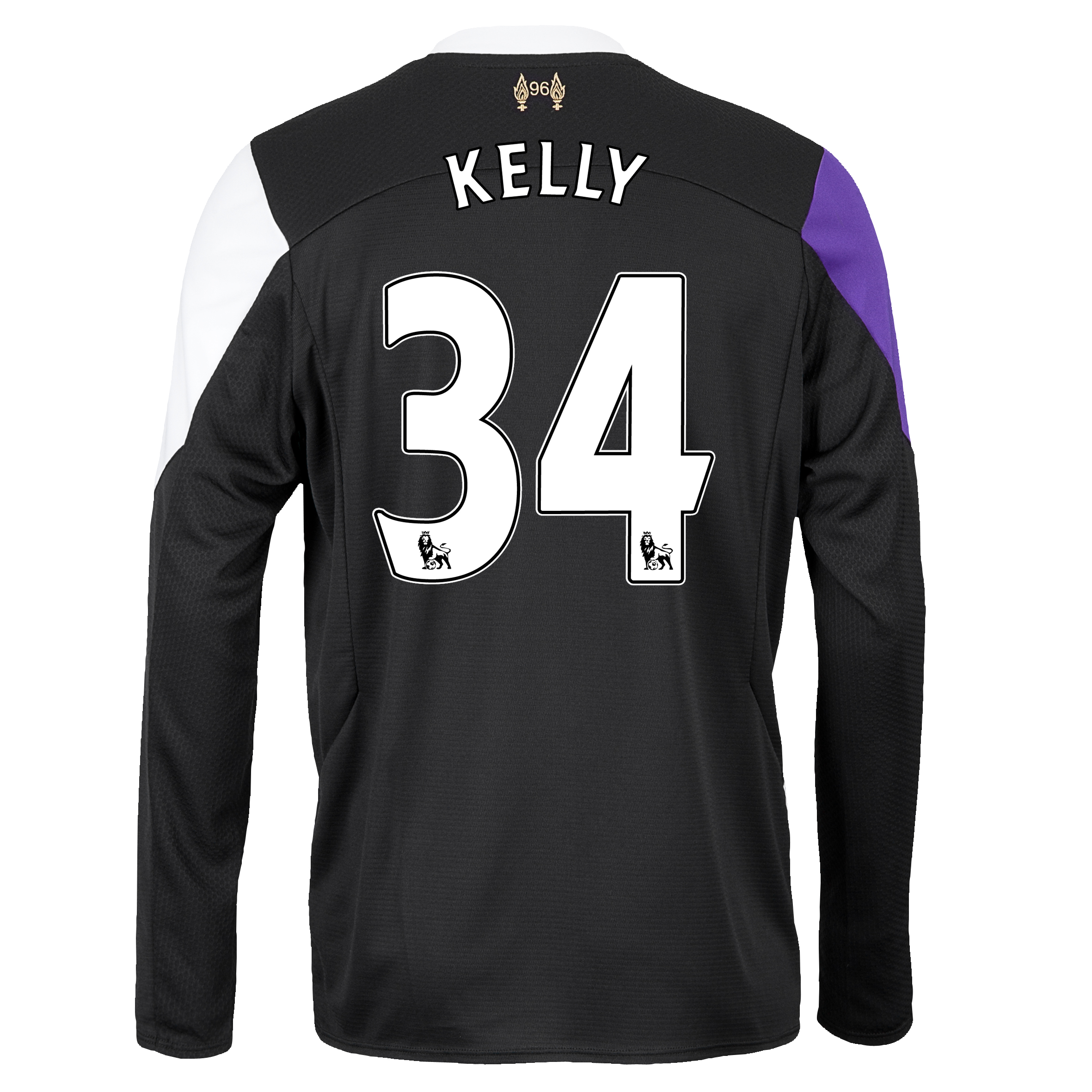 Liverpool Third Shirt 2013/14 - Long Sleeve with Kelly 34 printing