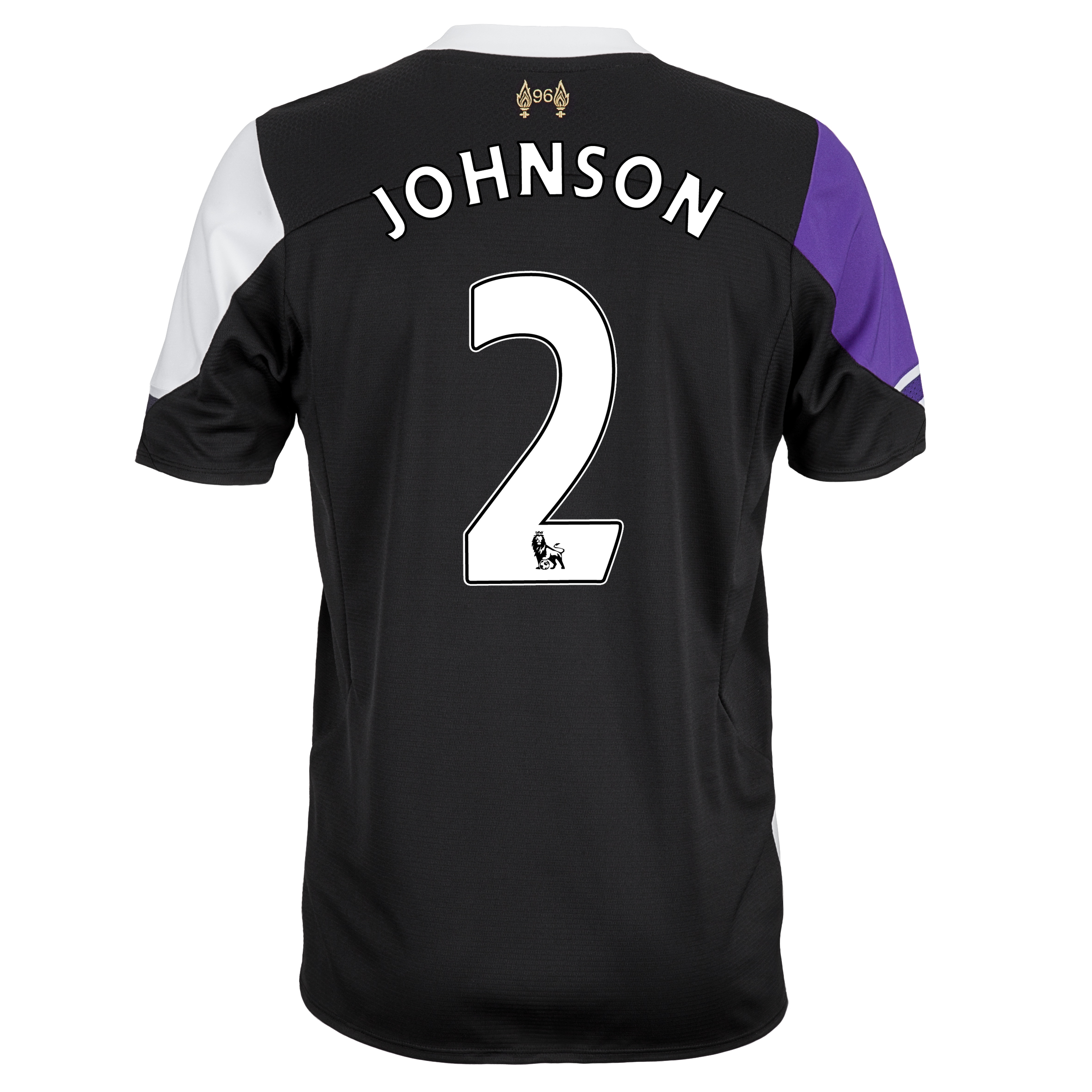 Liverpool Third Shirt 2013/14 - kids with Johnson 2 printing