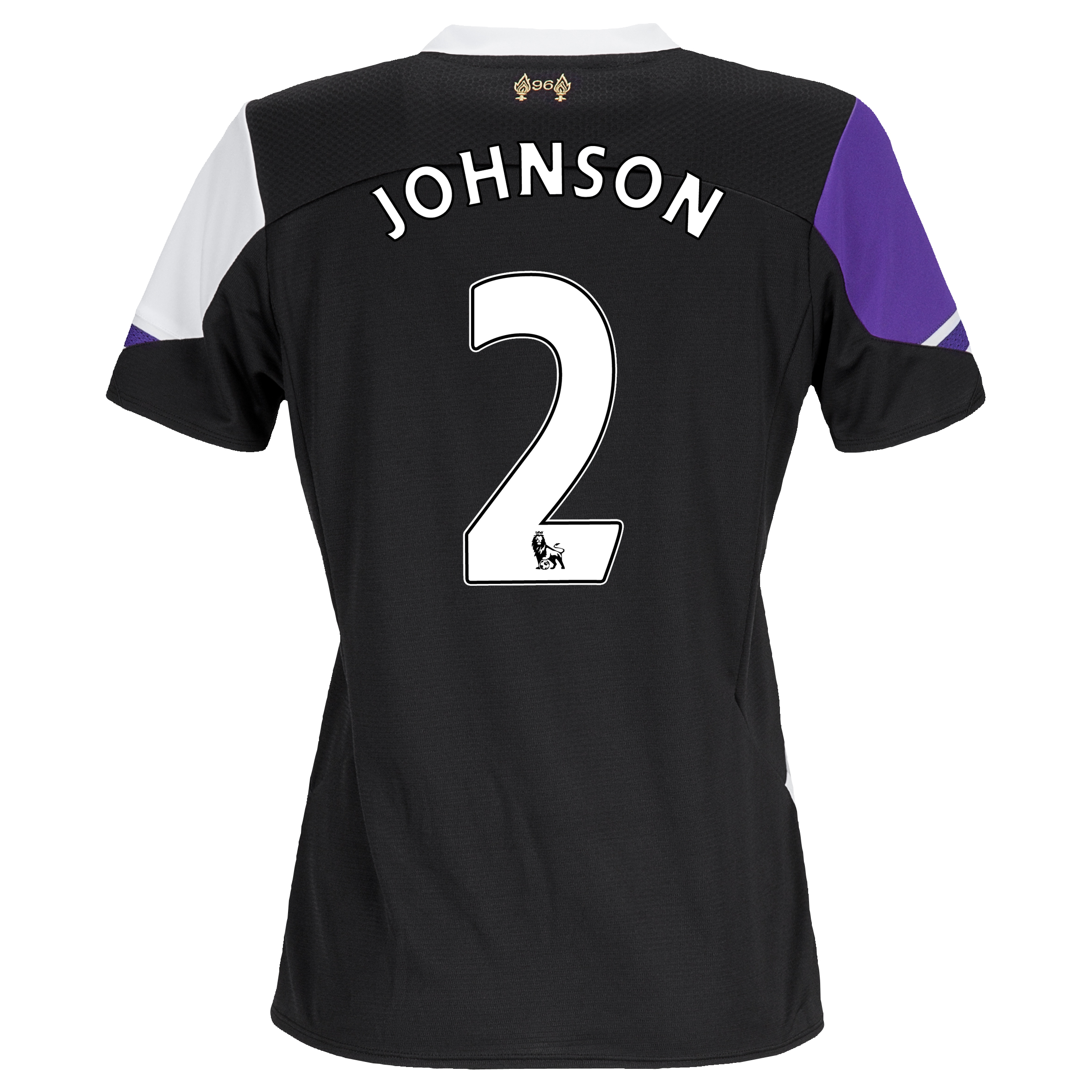 Liverpool Third Shirt 2013/14 - Womens with Johnson 2 printing