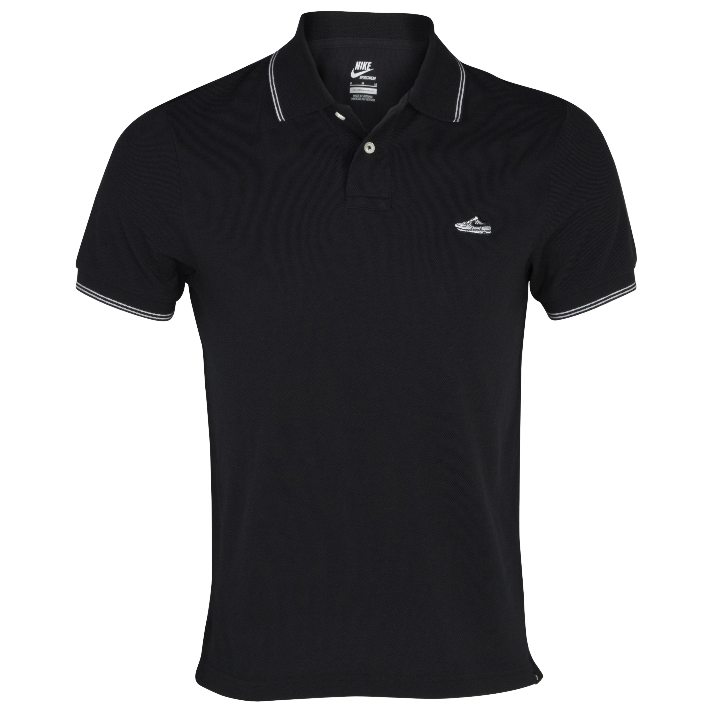 Nike Grand Slam Shoe Polo - Black/White