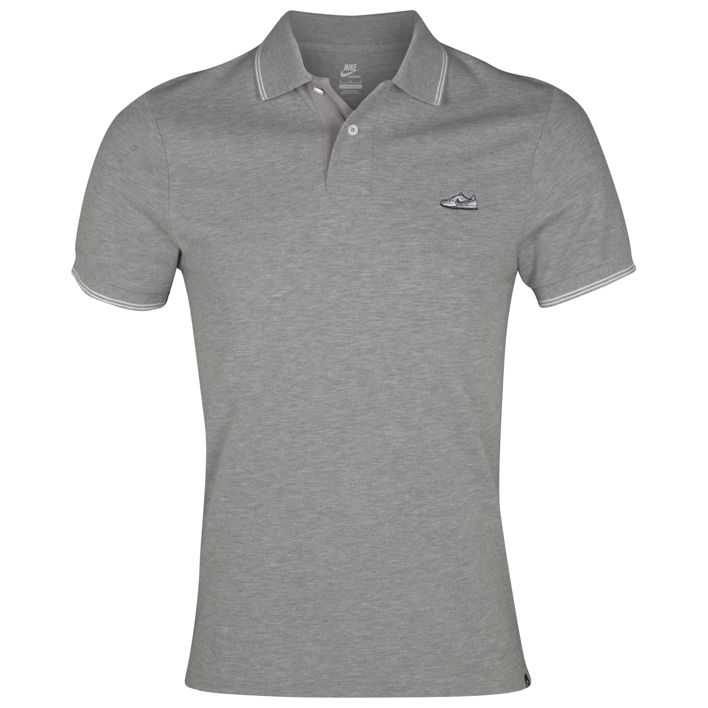 Nike Grand Slam Shoe Polo - Dark Grey Heather/White