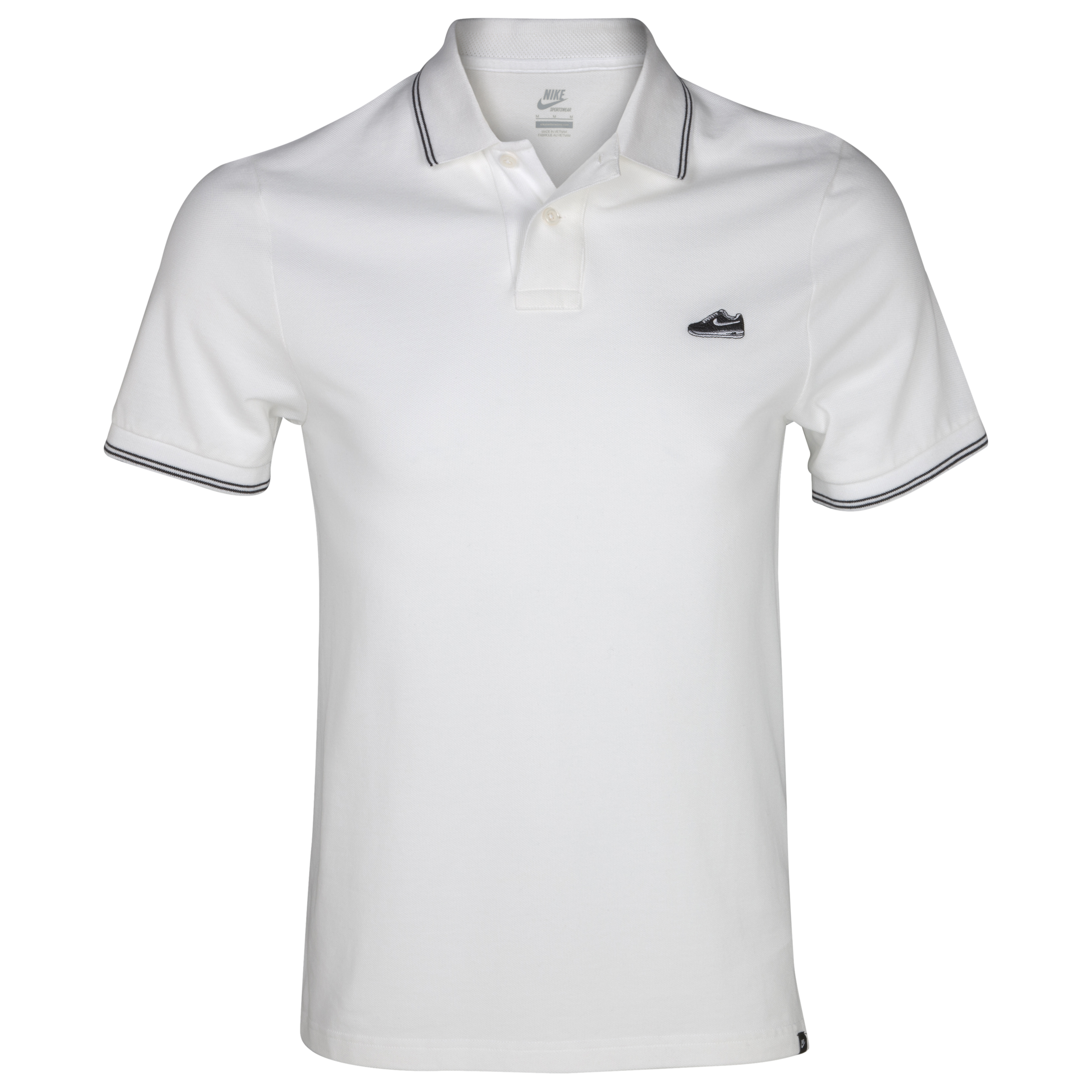 Nike Grand Slam Shoe Polo - White/Black