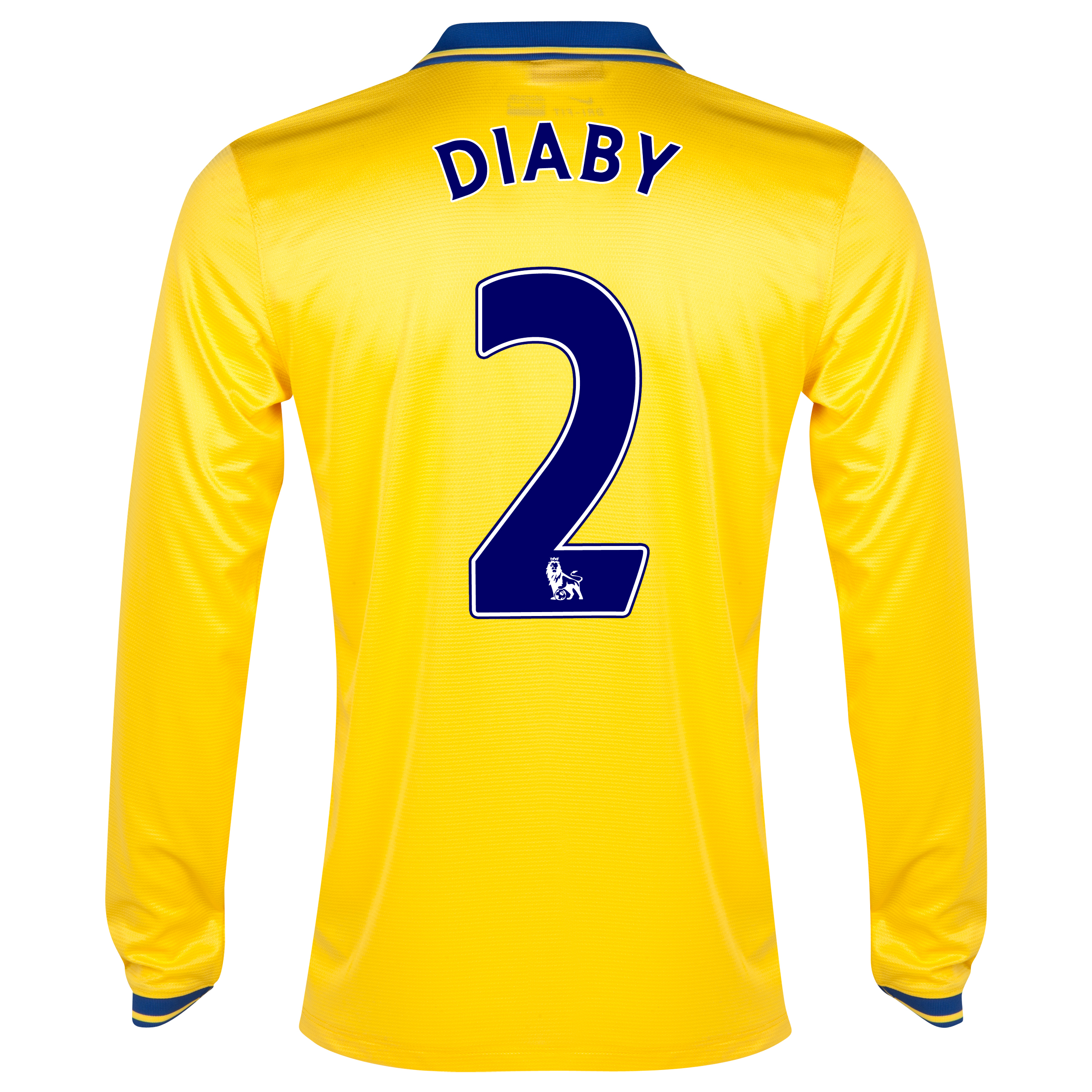 Arsenal Away Shirt 2013/14 Long Sleeved with Diaby 2 printing