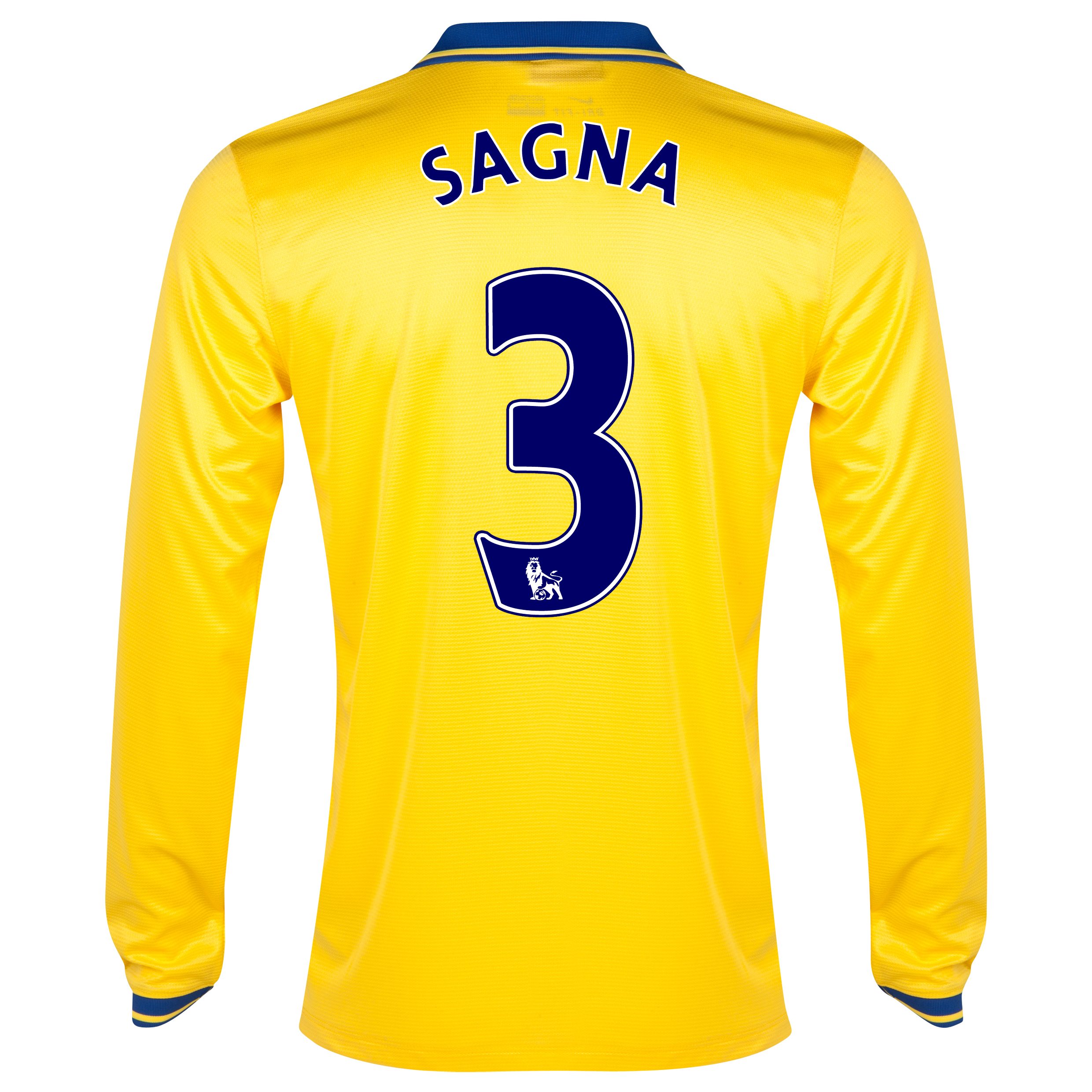 Arsenal Away Shirt 2013/14 Long Sleeved with Sagna 3 printing