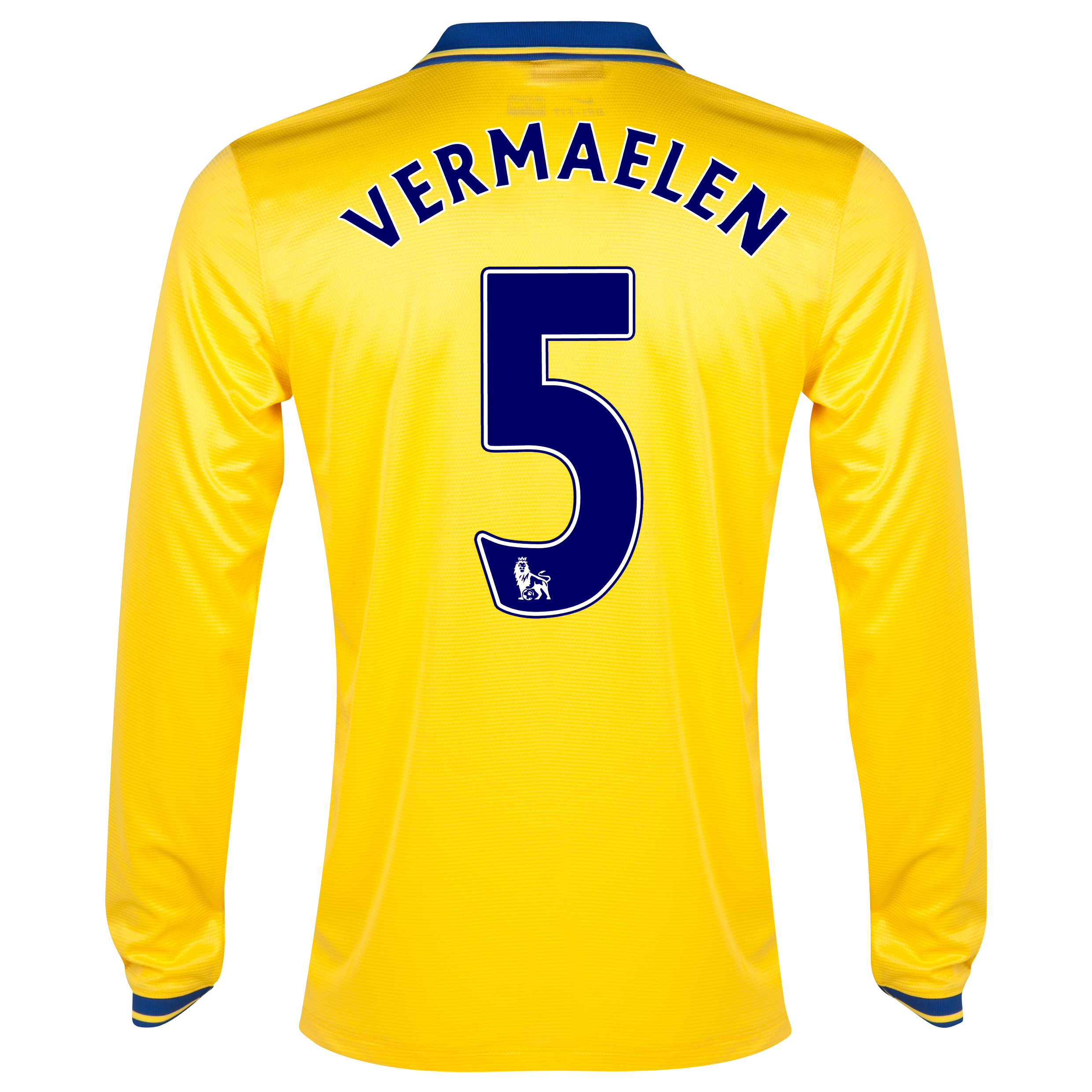 Arsenal Away Shirt 2013/14 Long Sleeved with Vermaelen 5 printing