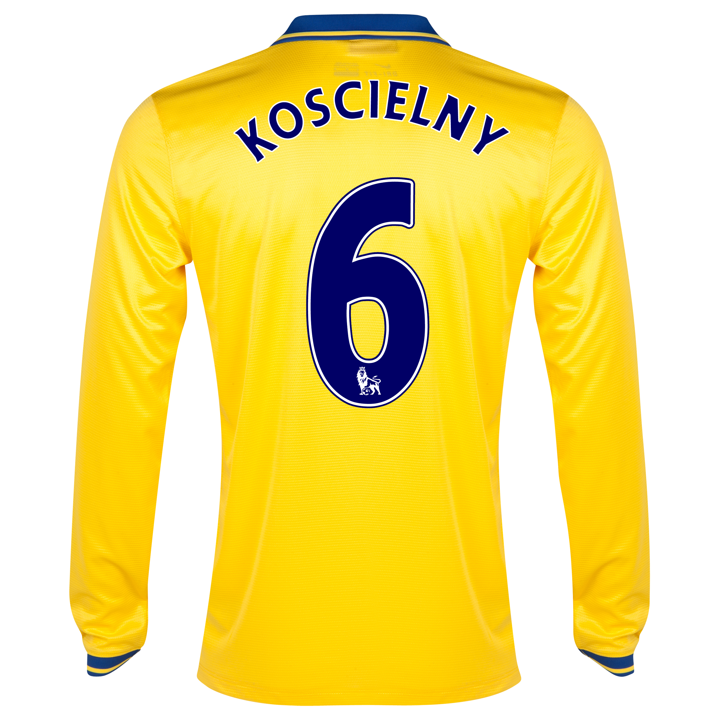 Arsenal Away Shirt 2013/14 Long Sleeved with Koscielny 6 printing