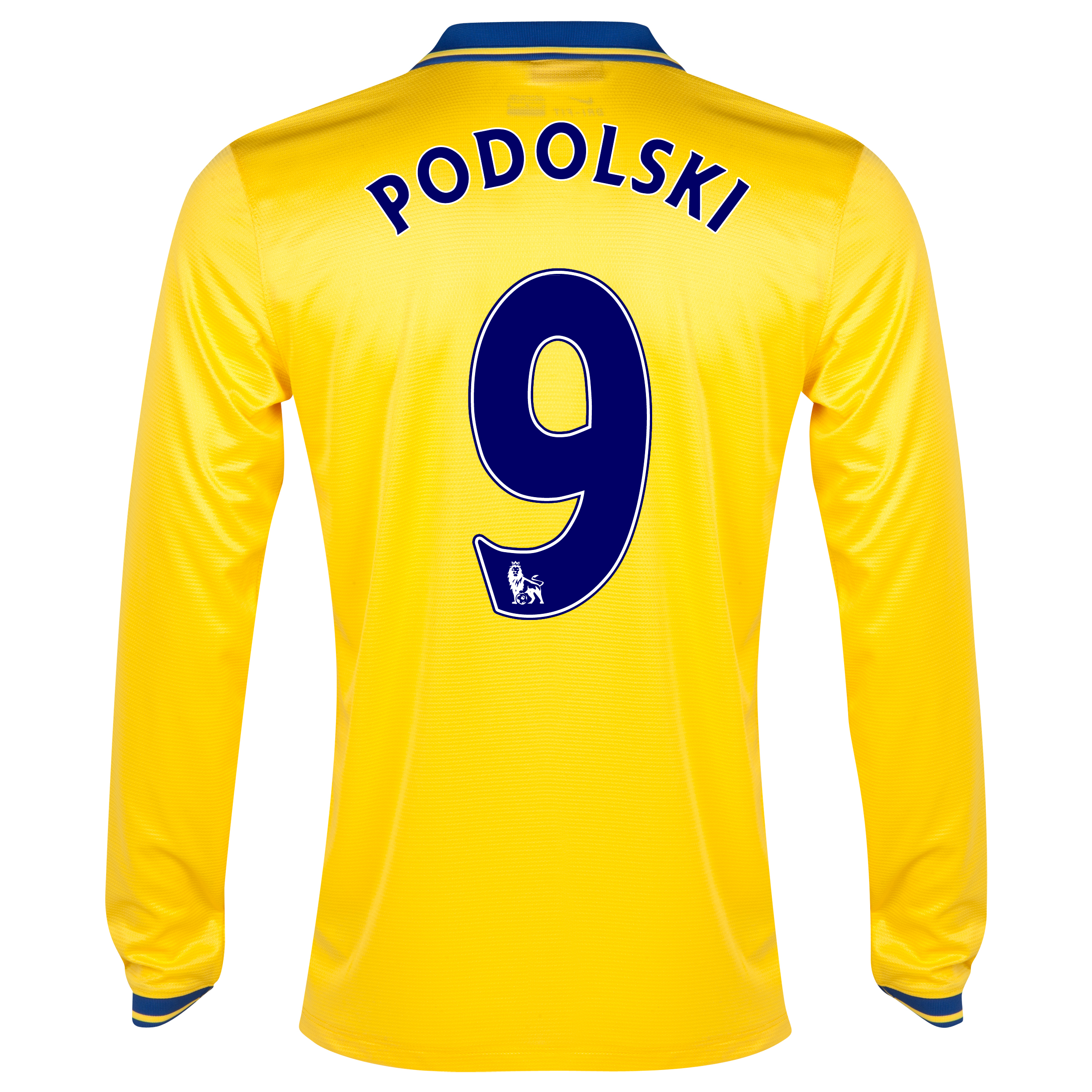 Arsenal Away Shirt 2013/14 Long Sleeved with Podolski 9 printing