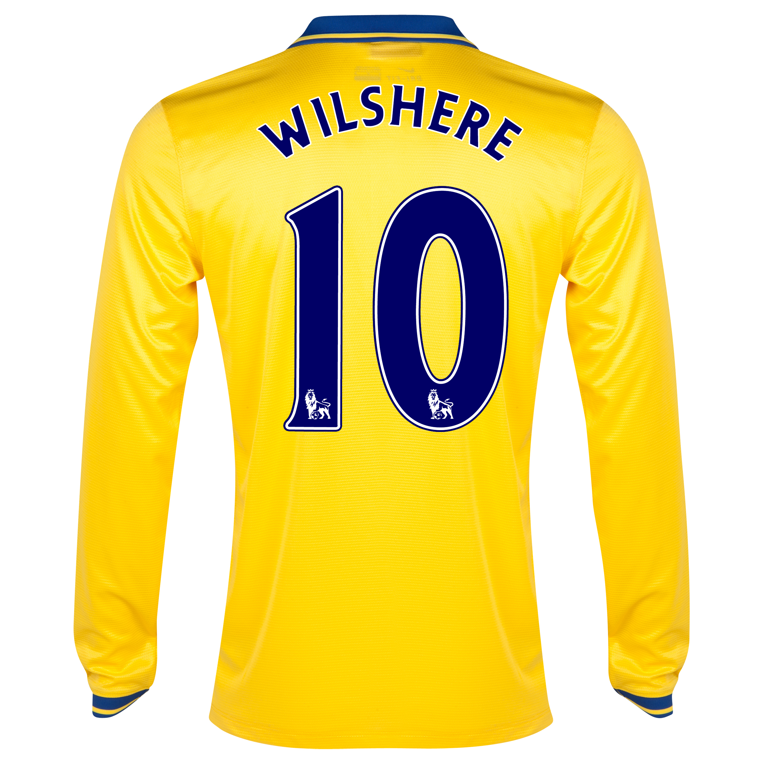 Arsenal Away Shirt 2013/14 Long Sleeved with Wilshere 10 printing