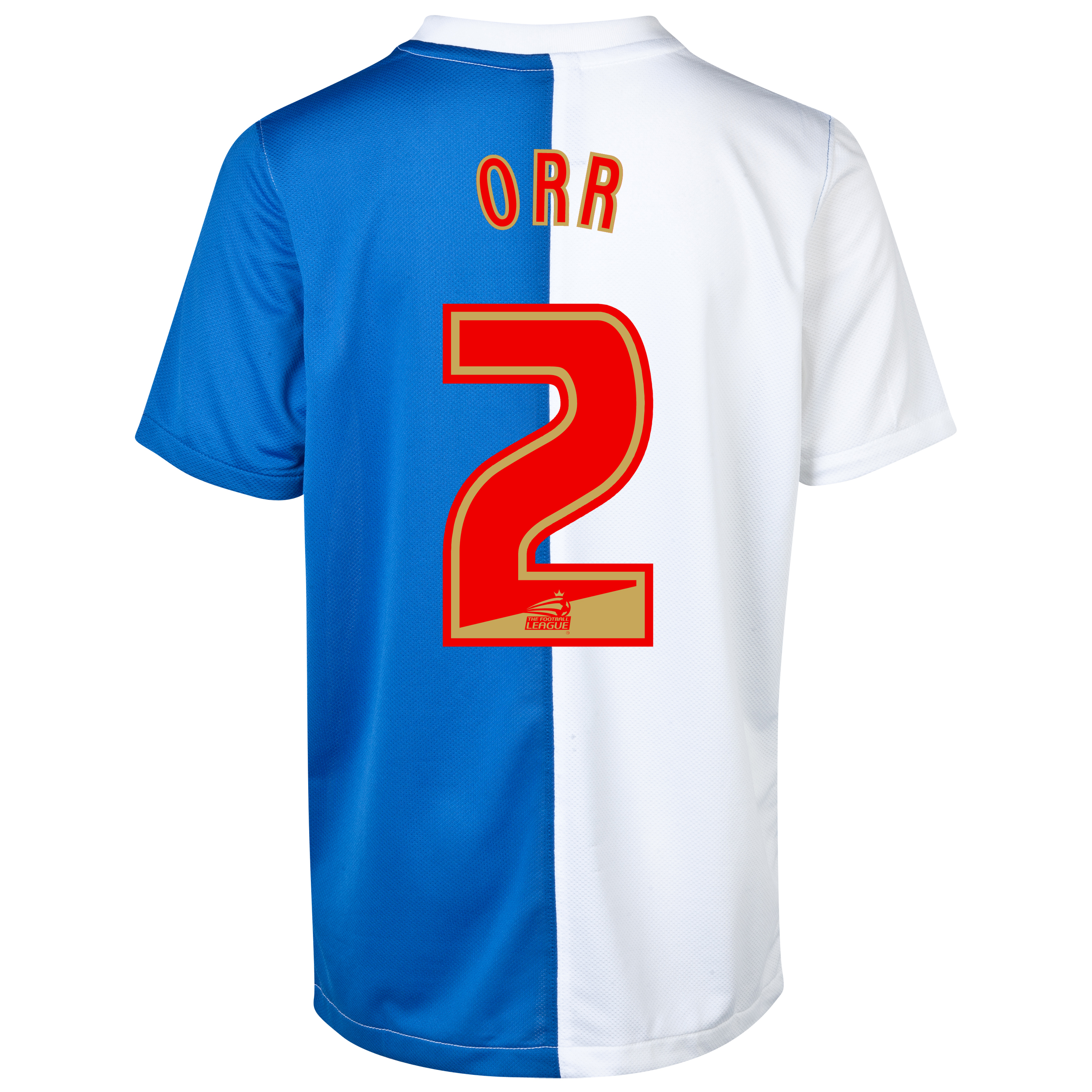 Blackburn Rovers Home Shirt 2013/14 with Orr 2 printing
