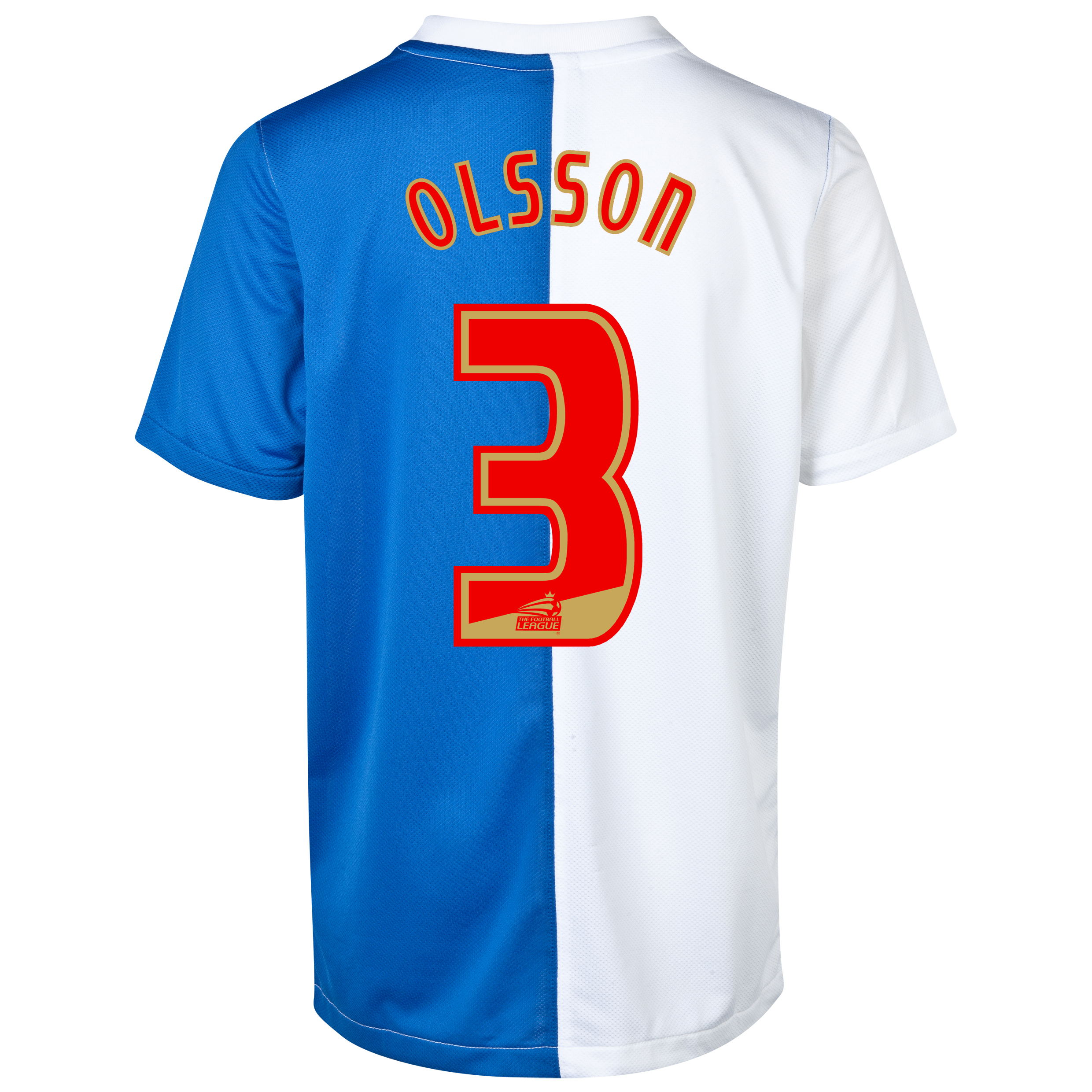 Blackburn Rovers Home Shirt 2013/14 with Olsson 3 printing