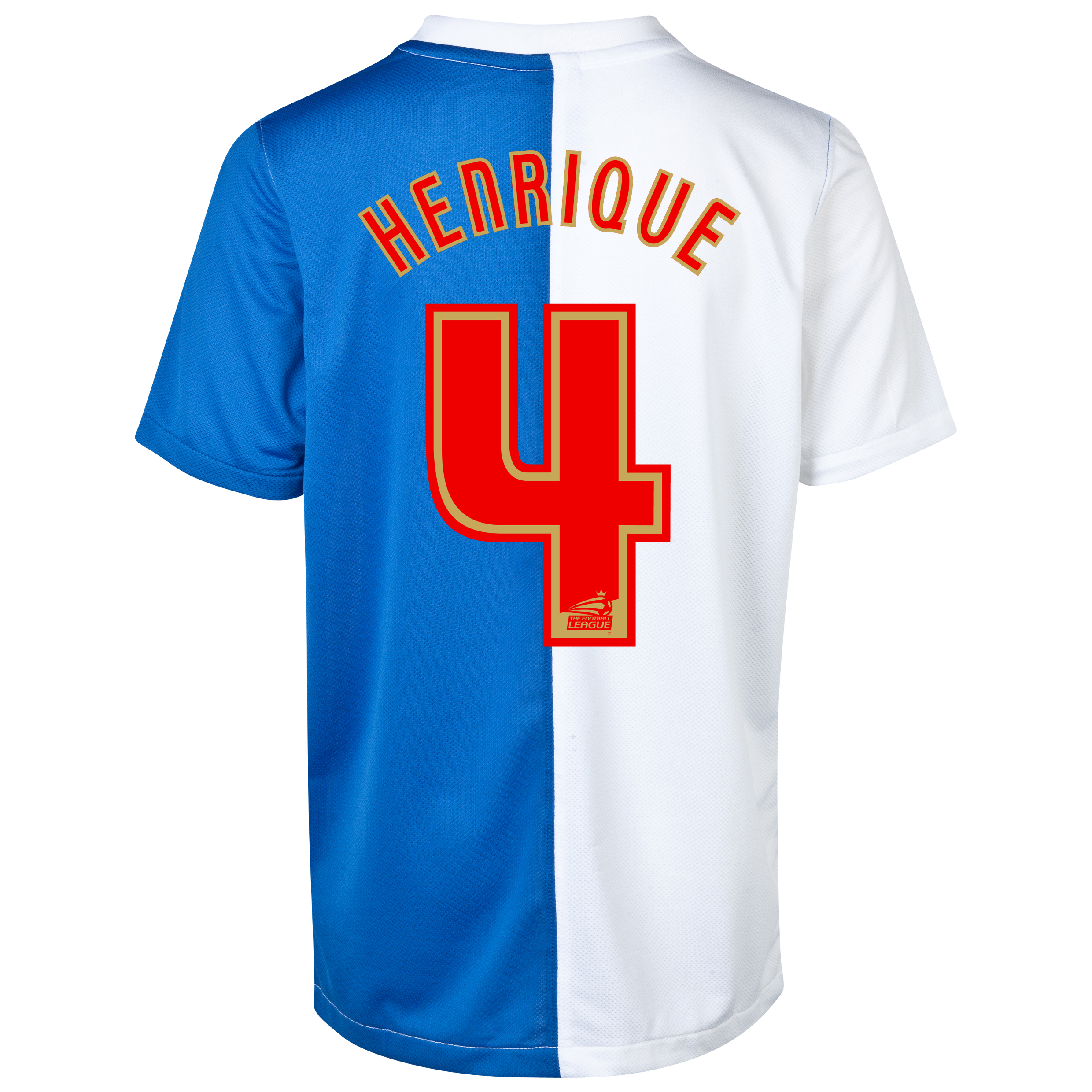 Blackburn Rovers Home Shirt 2013/14 with Henrique 4 printing