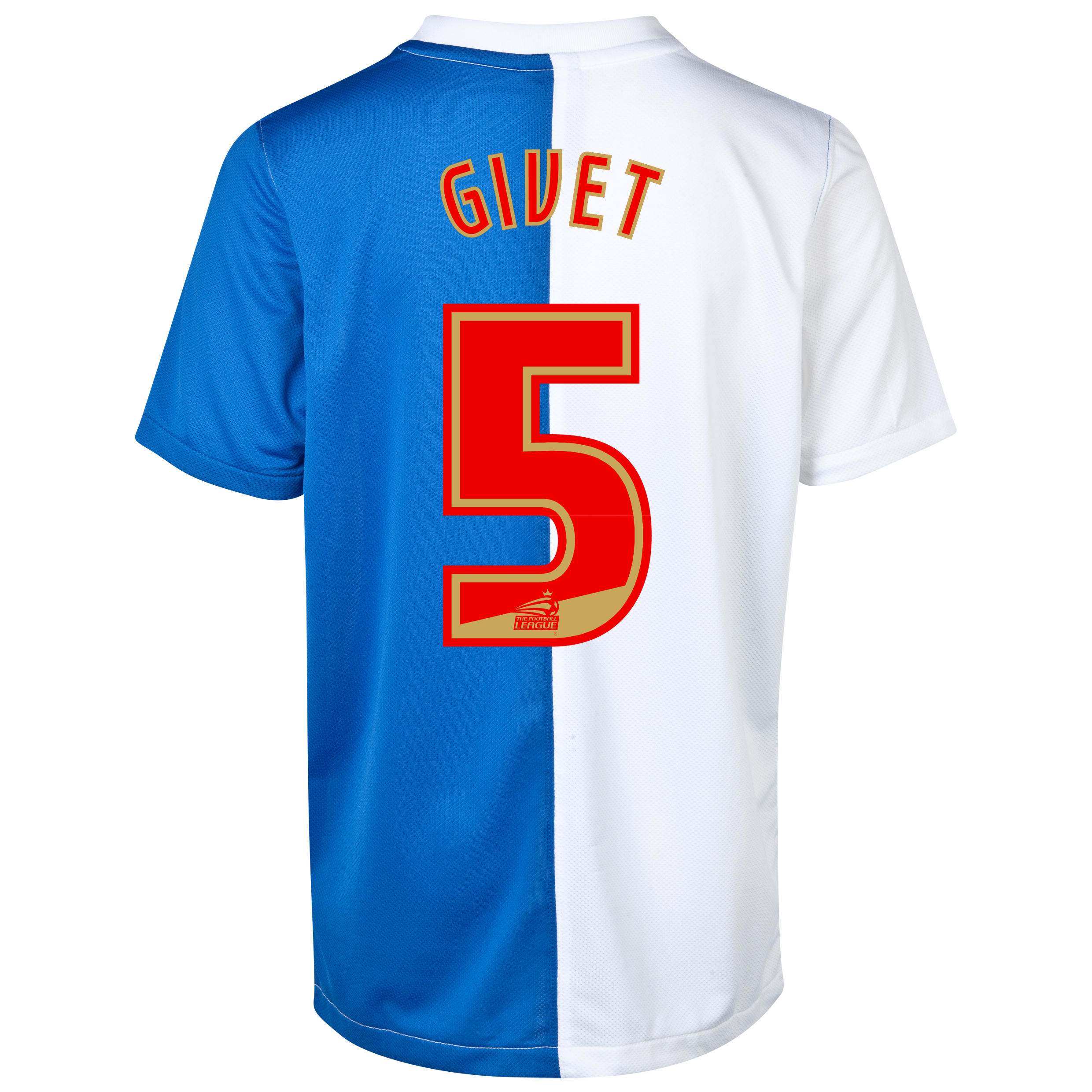 Blackburn Rovers Home Shirt 2013/14 with Givet 5 printing