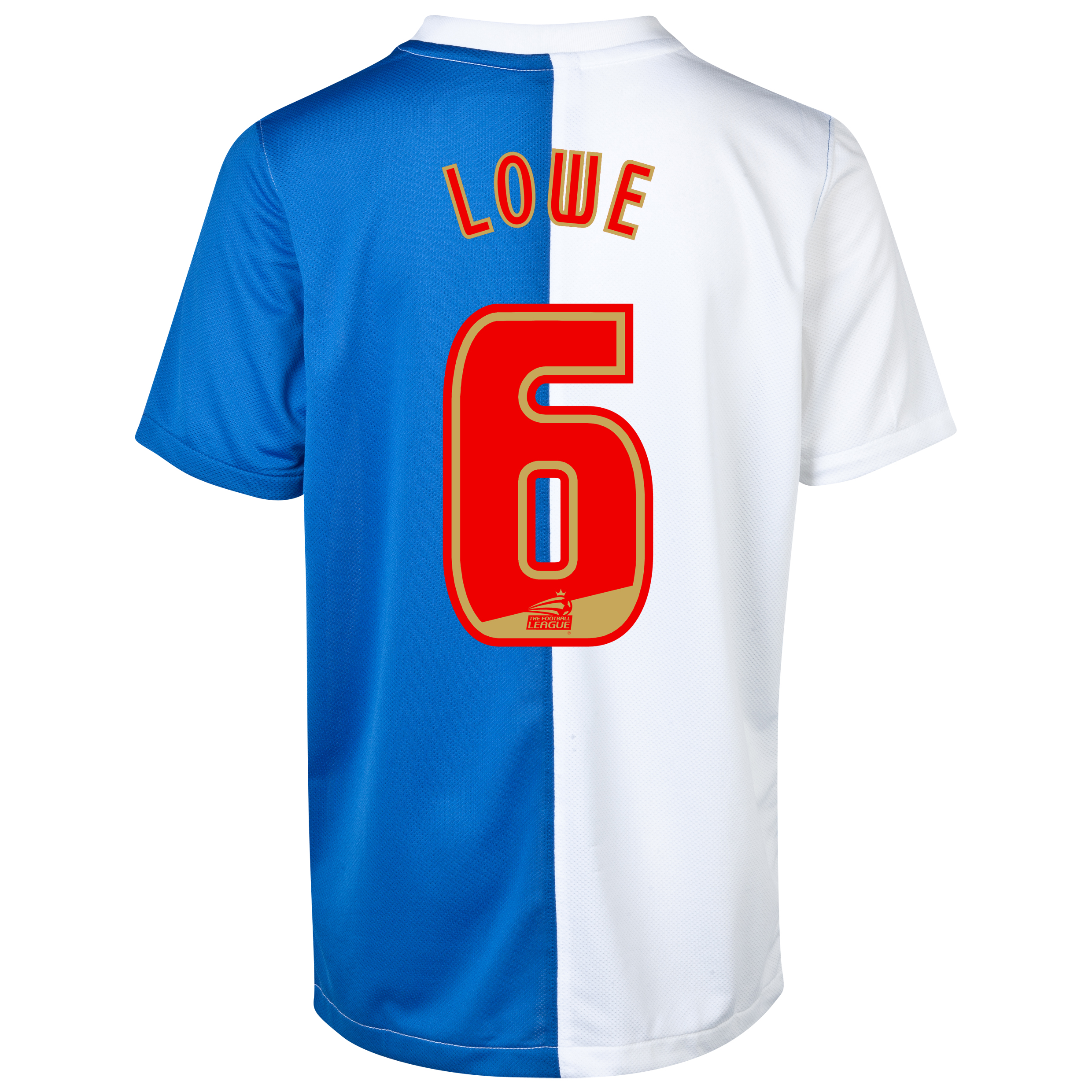 Blackburn Rovers Home Shirt 2013/14 with Lowe 6 printing