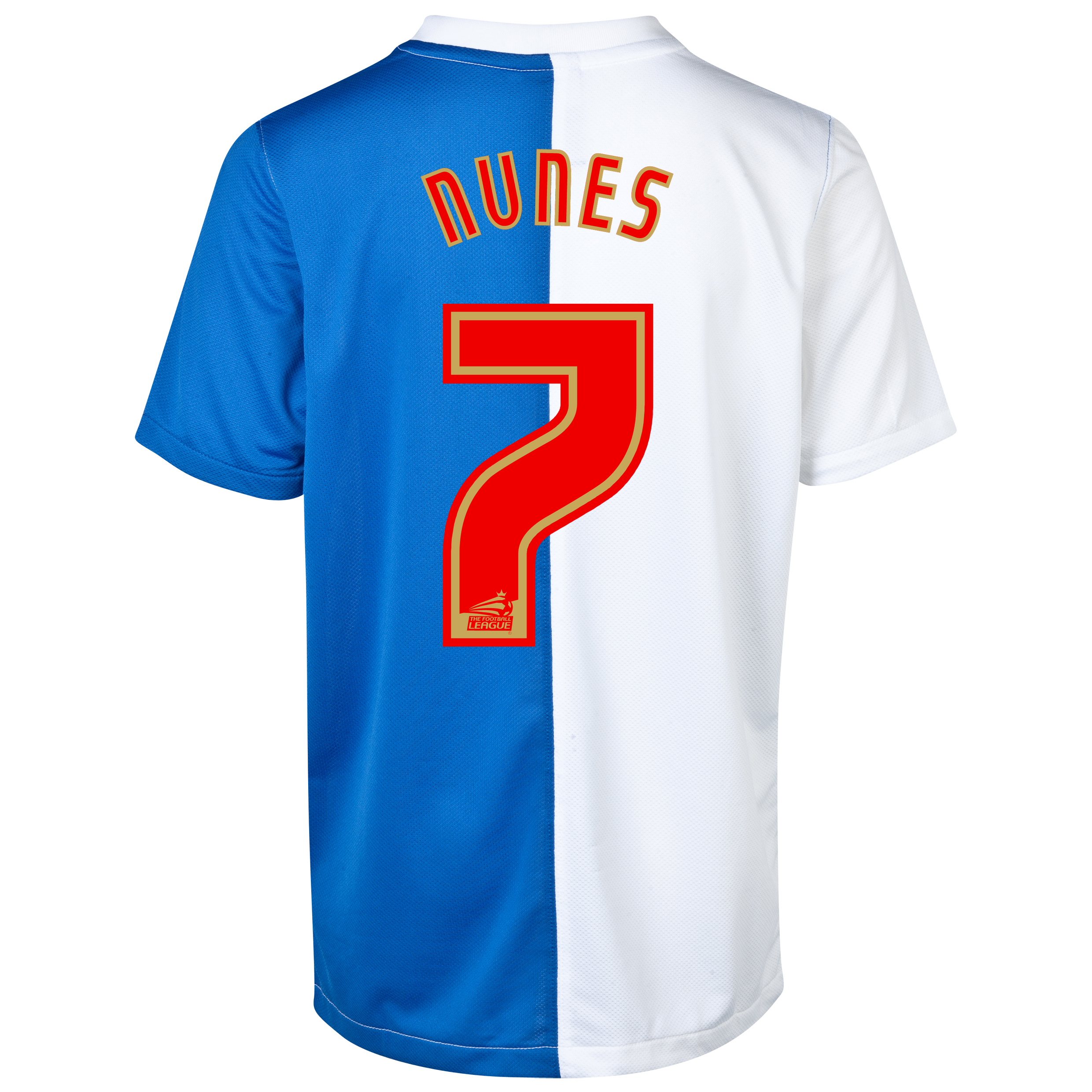 Blackburn Rovers Home Shirt 2013/14 with Nunes 7 printing