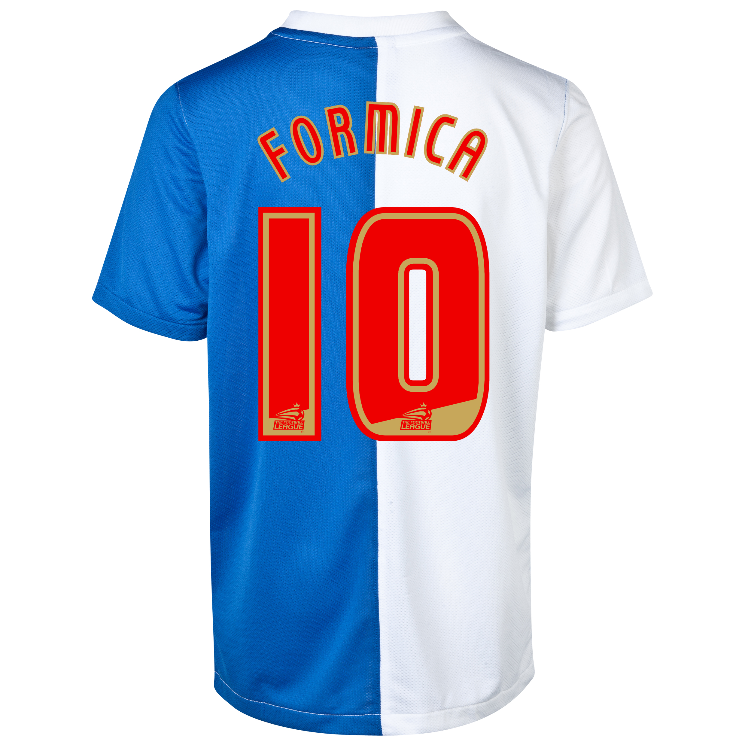 Blackburn Rovers Home Shirt 2013/14 with Formica 10 printing