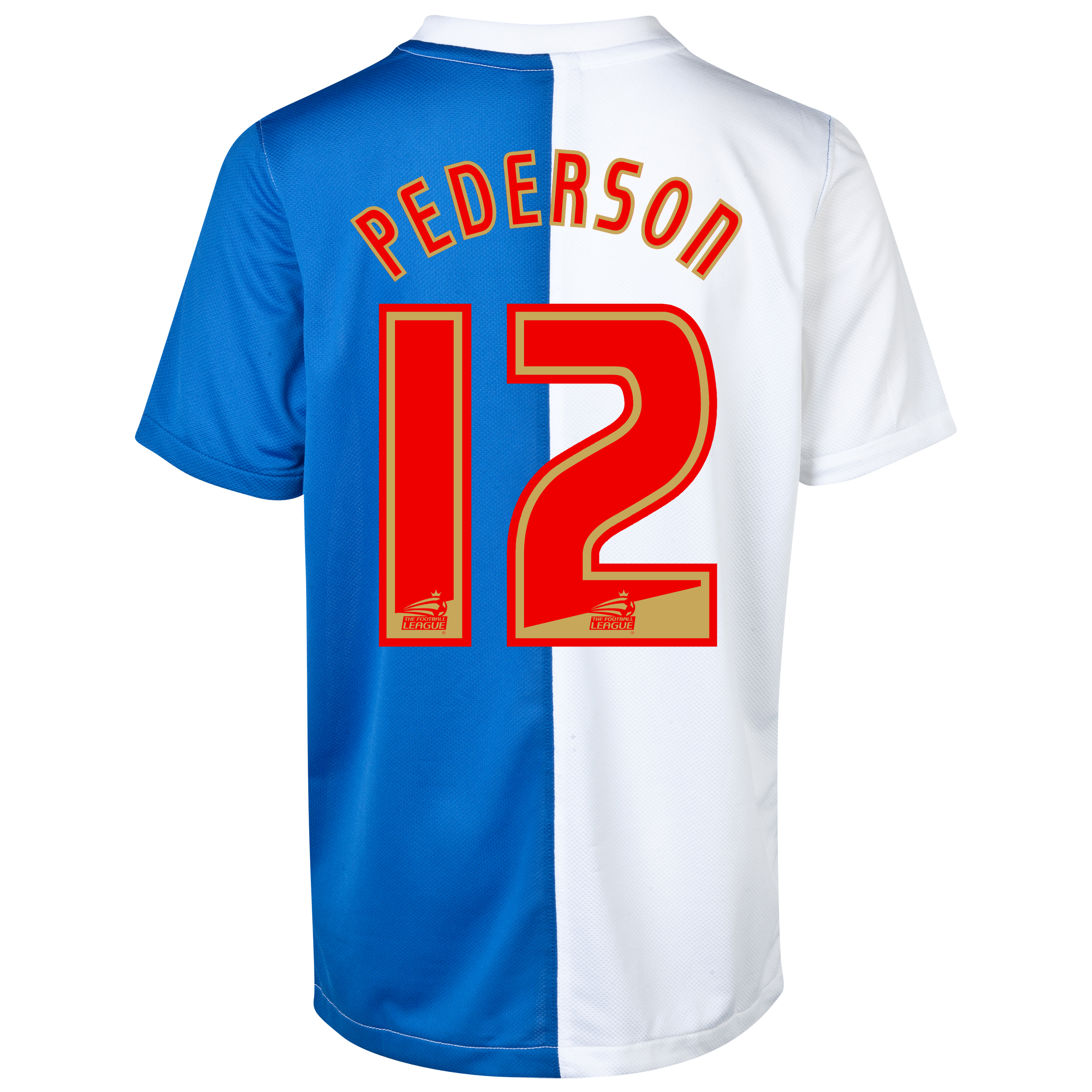 Blackburn Rovers Home Shirt 2013/14 with Pedersen 12 printing