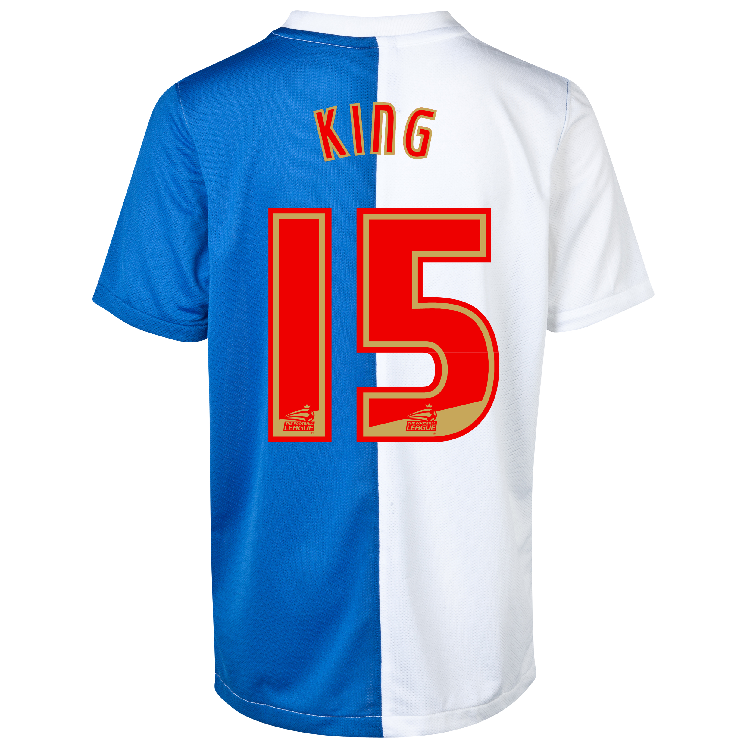 Blackburn Rovers Home Shirt 2013/14 with King 15 printing