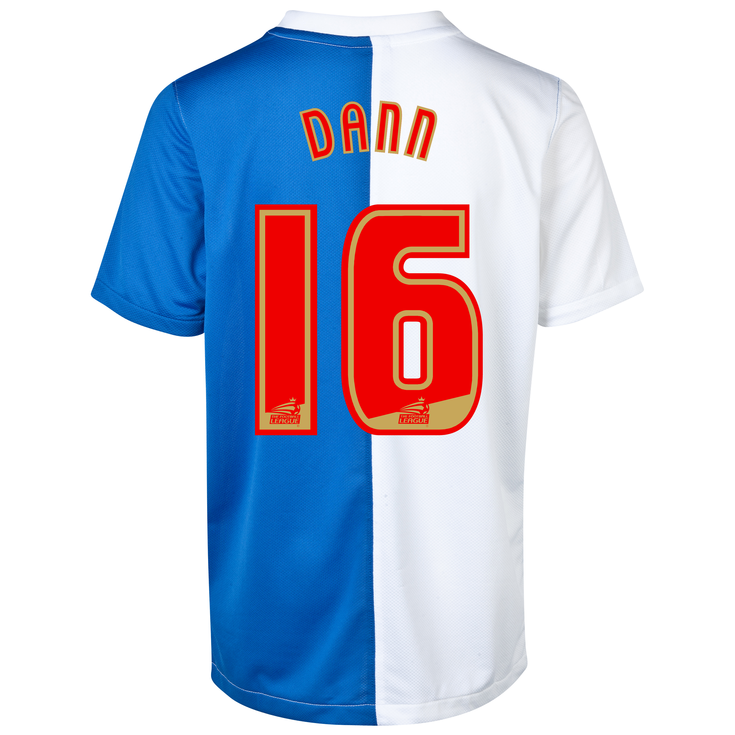 Blackburn Rovers Home Shirt 2013/14 with Dann 16 printing