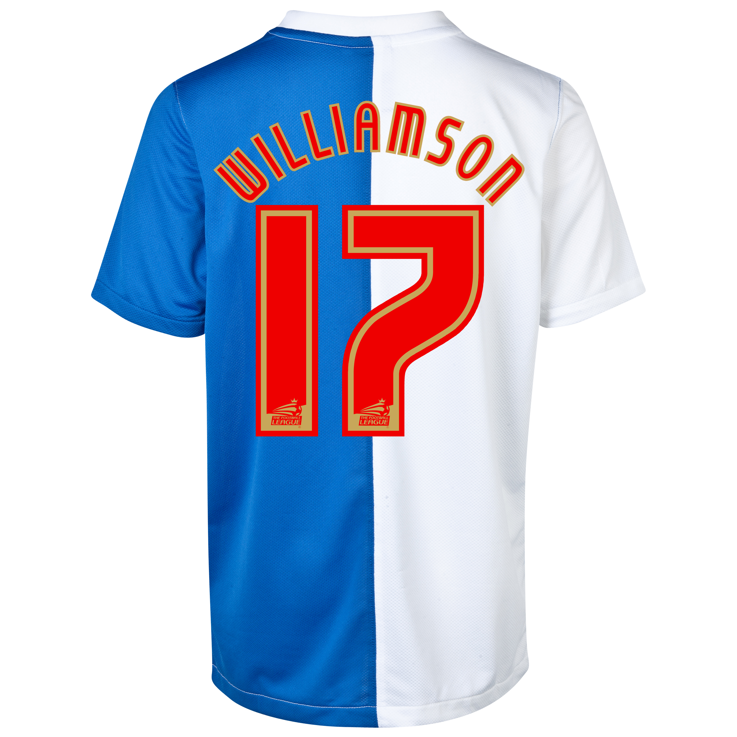 Blackburn Rovers Home Shirt 2013/14 with Williamson 17 printing