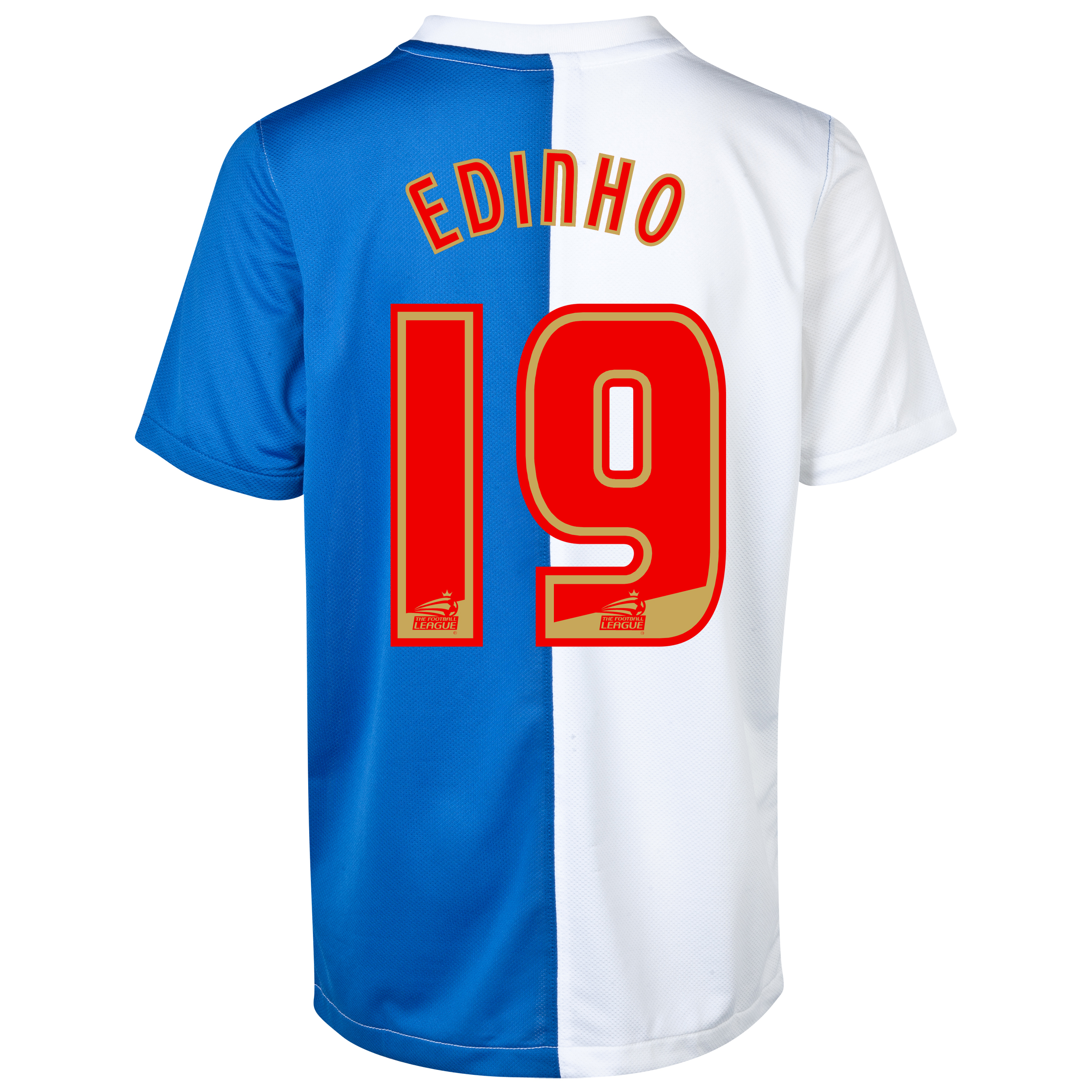 Blackburn Rovers Home Shirt 2013/14 with Edinho 19 printing