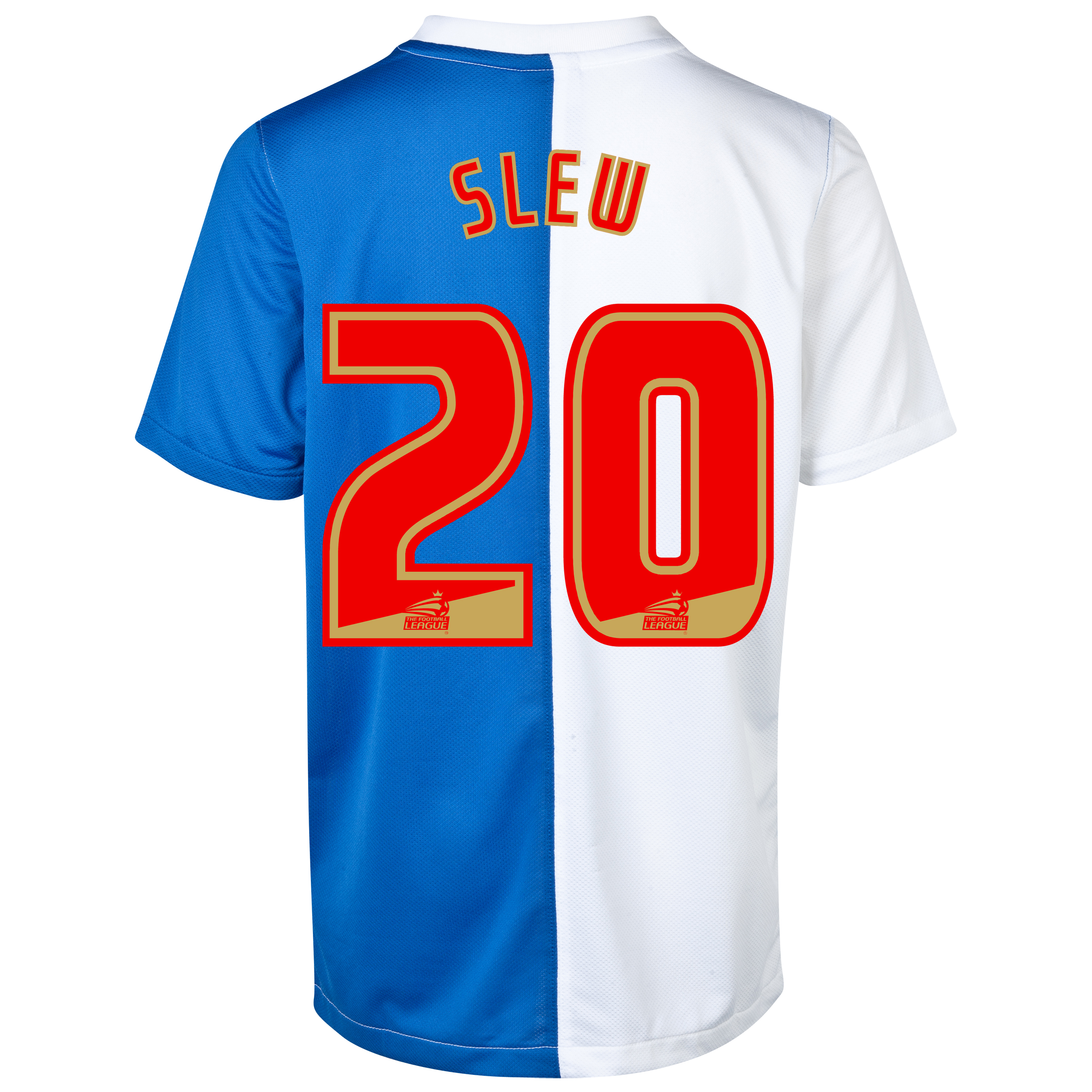 Blackburn Rovers Home Shirt 2013/14 with Slew 20 printing