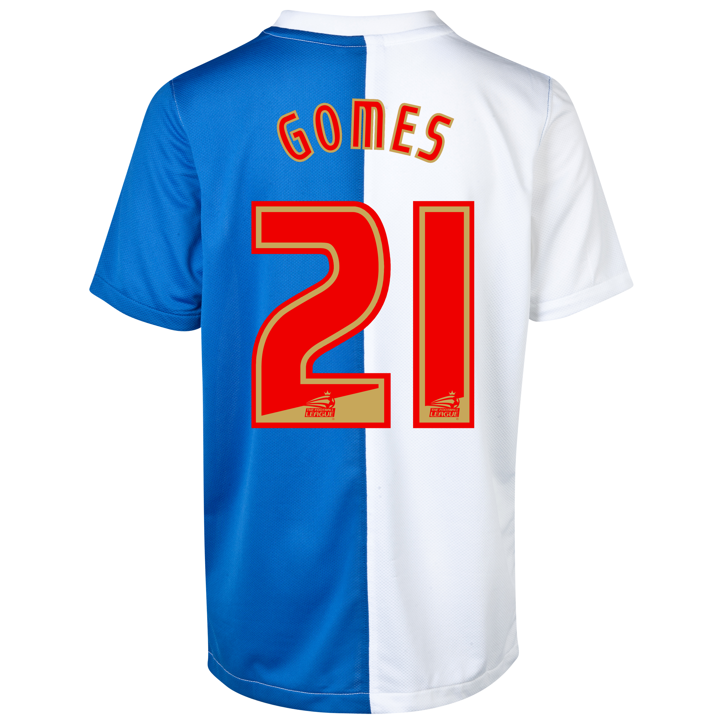 Blackburn Rovers Home Shirt 2013/14 with Gomes 21 printing