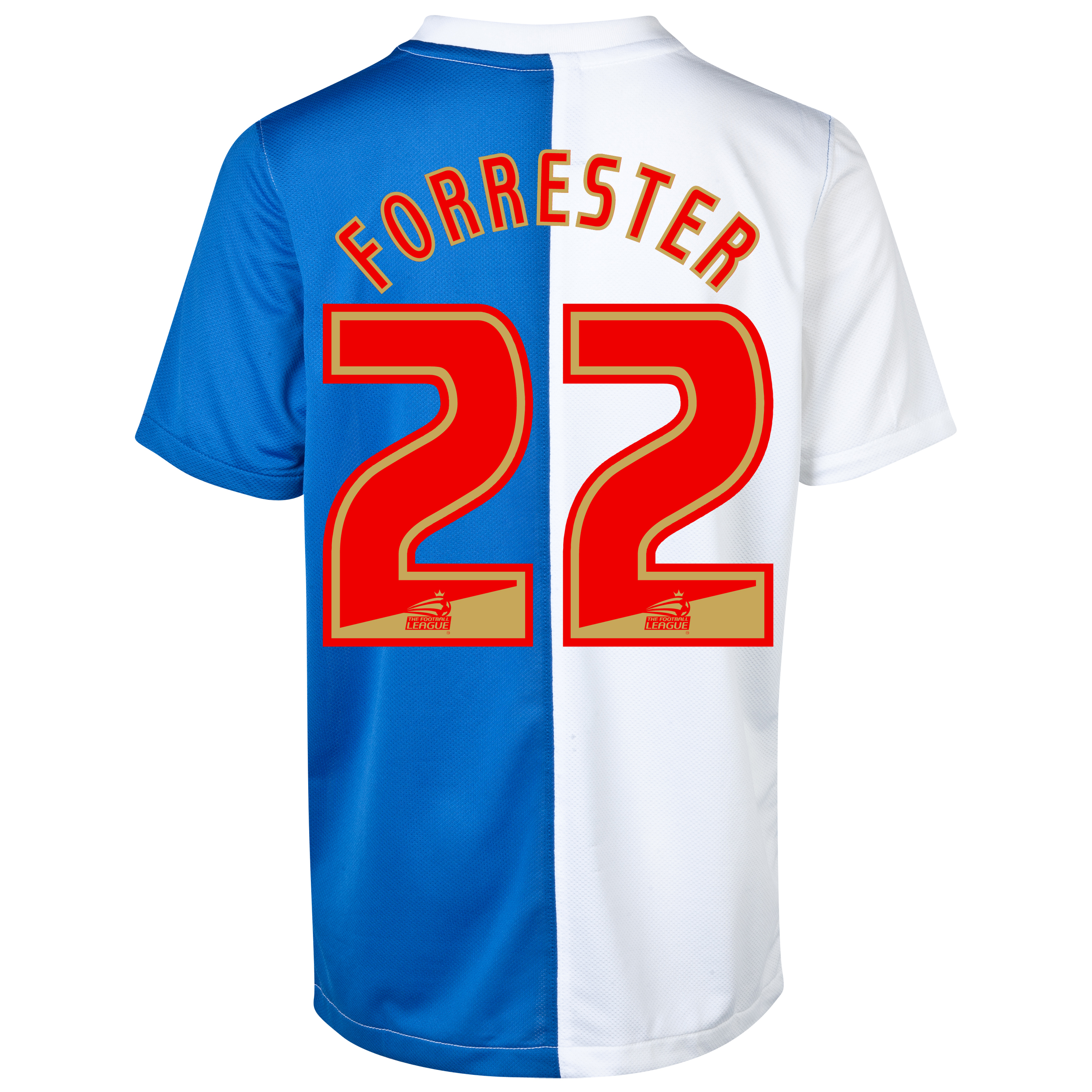 Blackburn Rovers Home Shirt 2013/14 with Forrester 22 printing