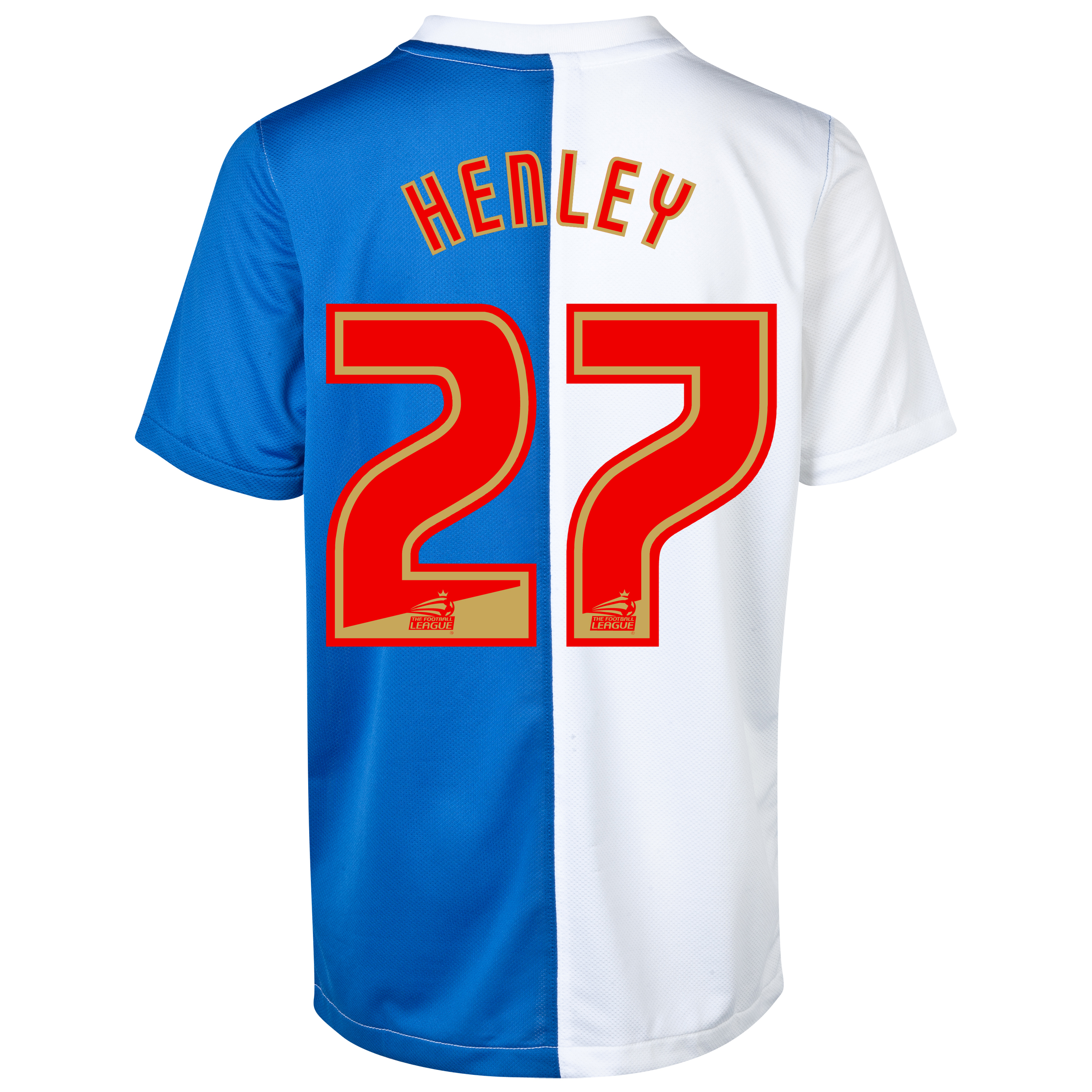 Blackburn Rovers Home Shirt 2013/14 - Kids with Henley 27 printing