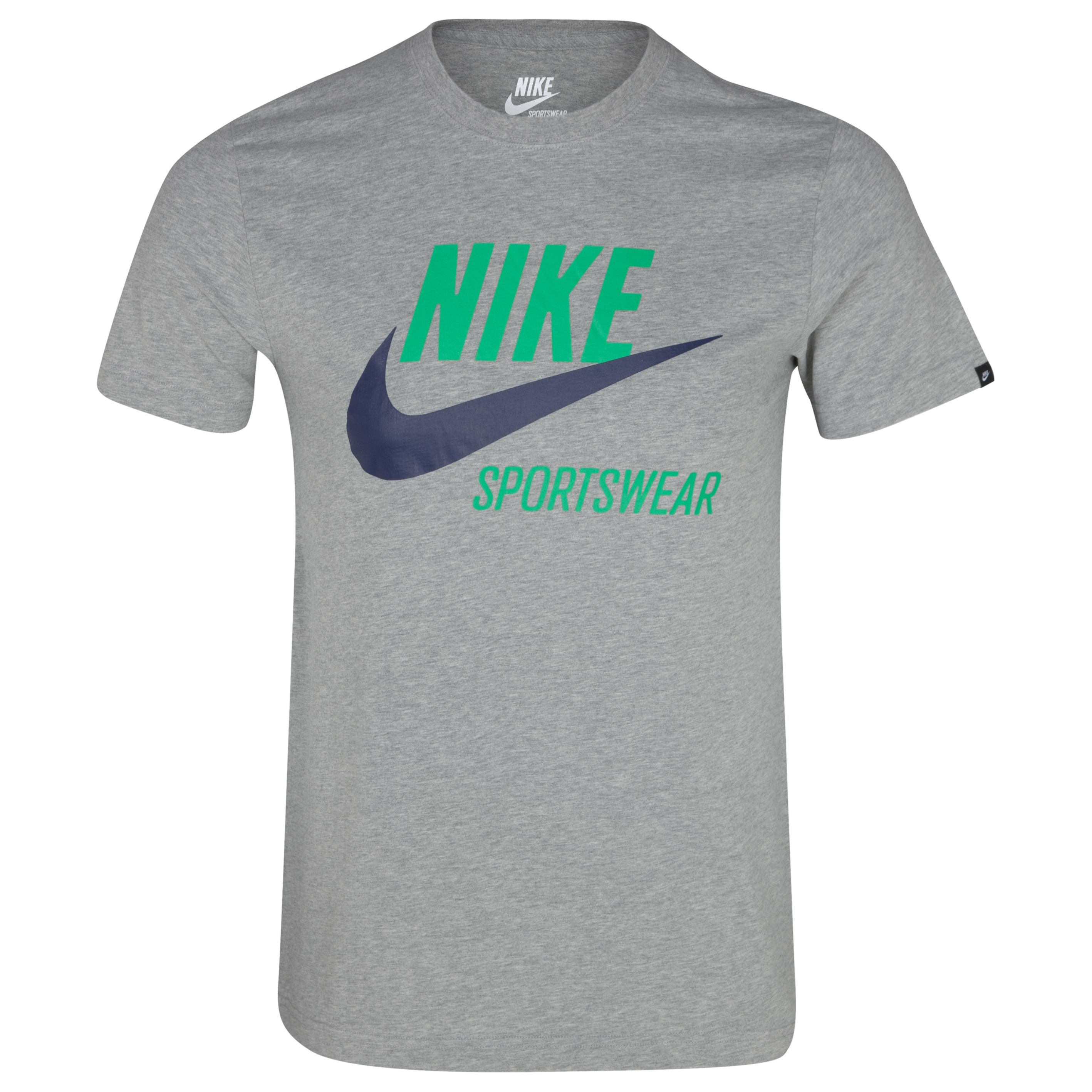 Nike Icon T-Shirt - Dark Grey Heather/Gym Green