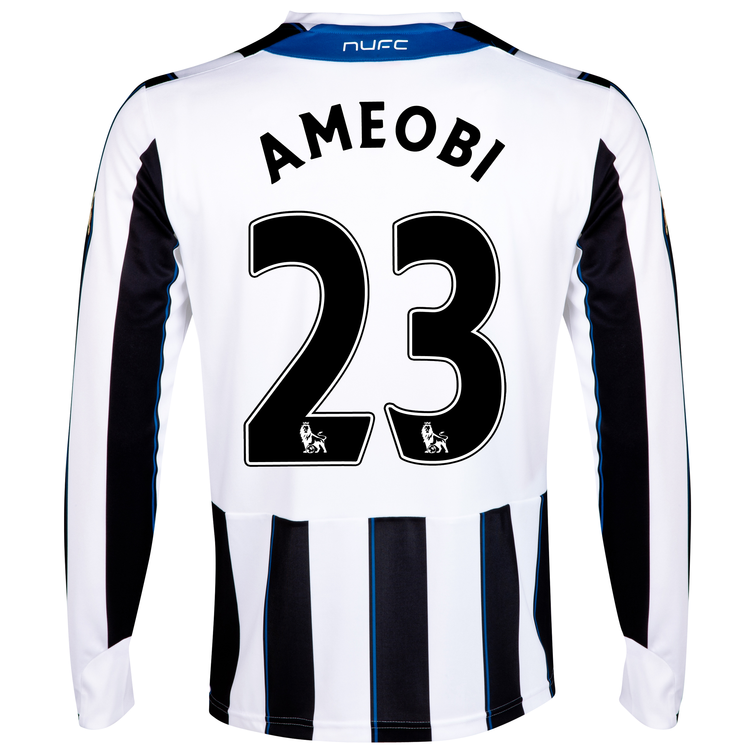 Newcastle United Home Shirt 2013/14 - Long Sleeve with Ameobi 23 printing