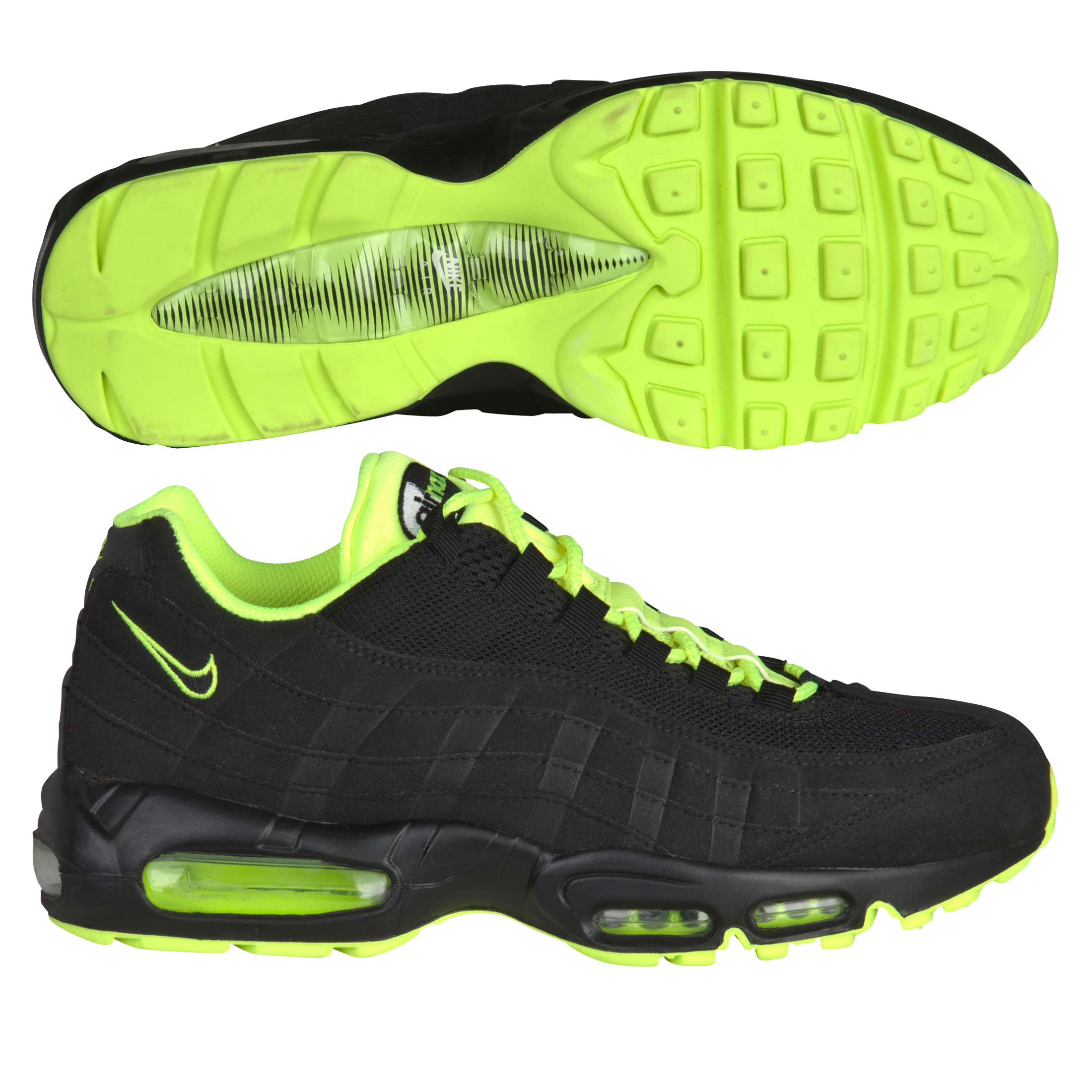 Nike Air Max '95 LE Trainers - Black/White/Volt