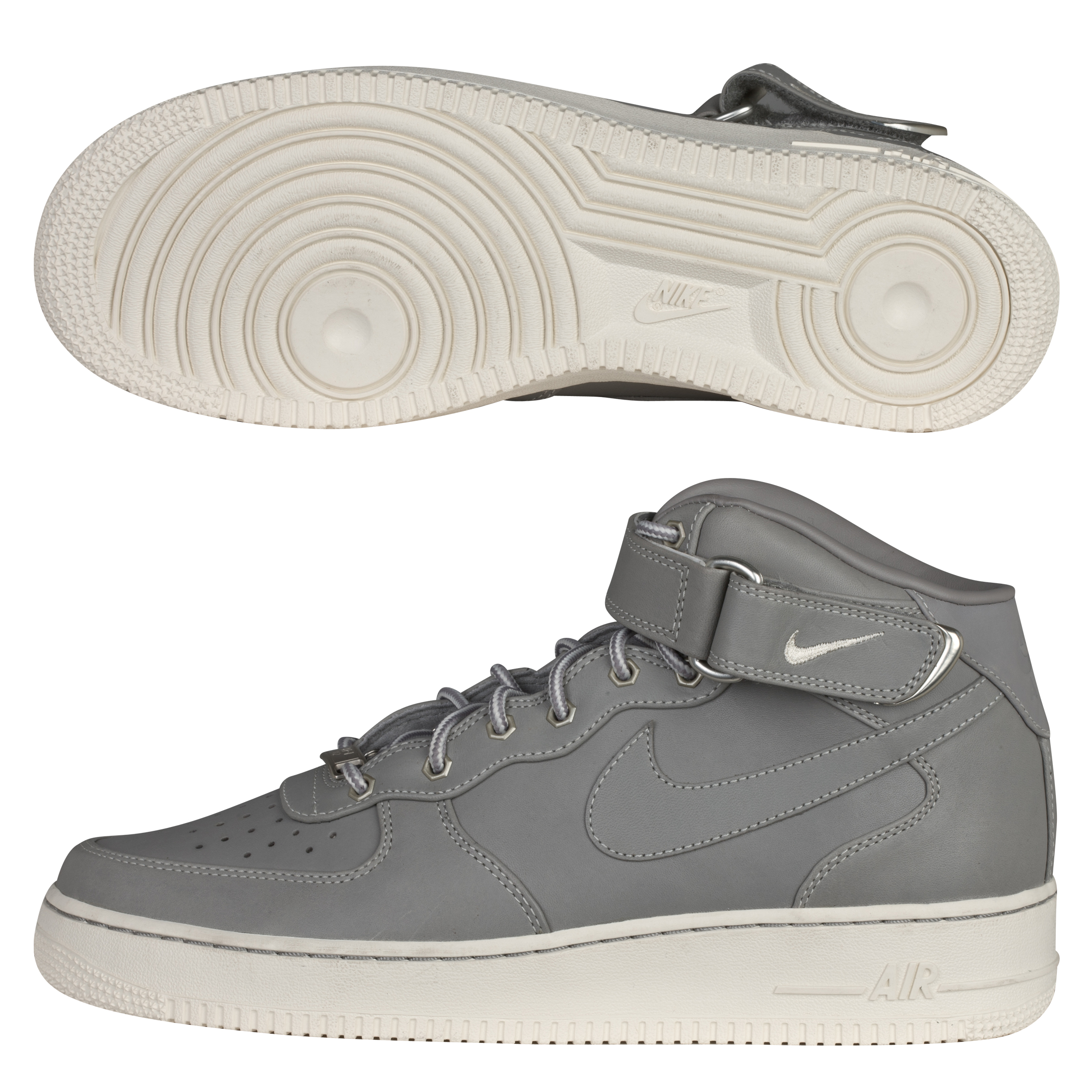 Nike Air Force 1 Mid '07 Premium Trainers - Medium Grey