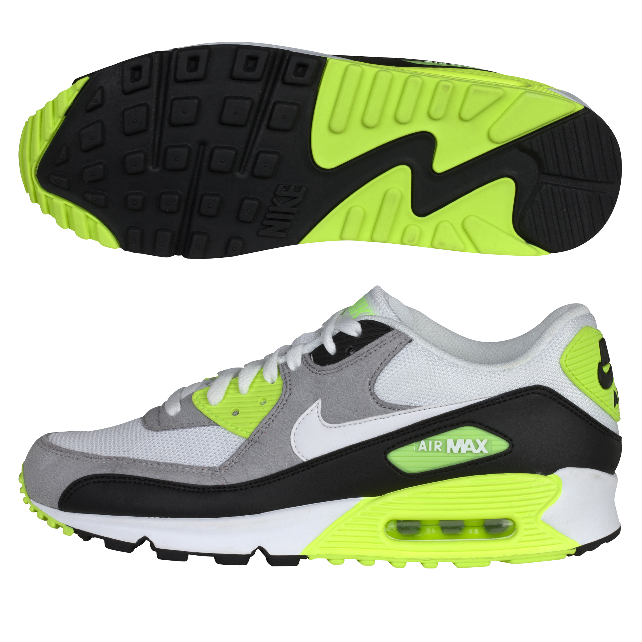 Nike Air Max 90 Trainers - Black/White/Medium Grey
