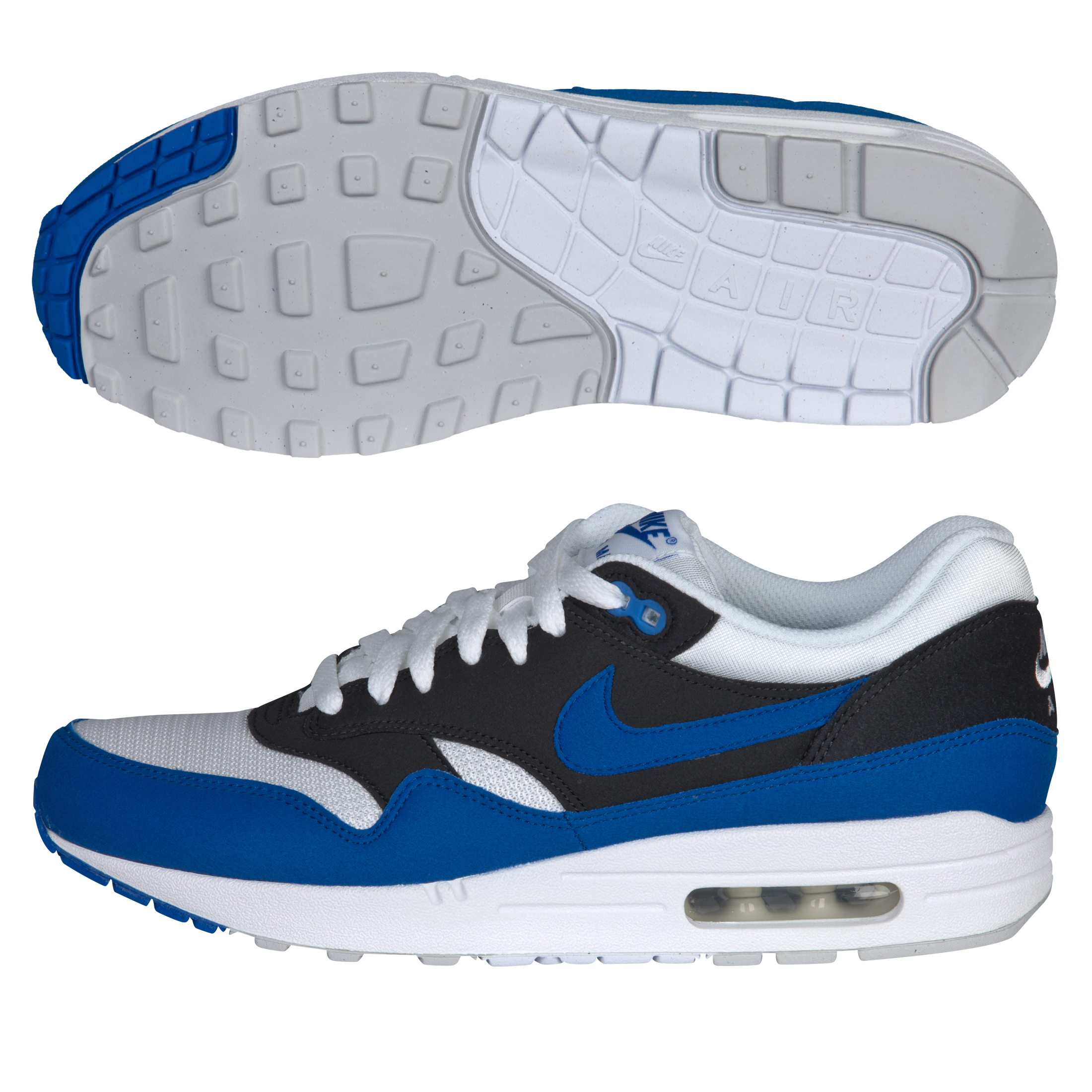 Nike Air Max 1 Trainers - White/Signal Blue/Antracite
