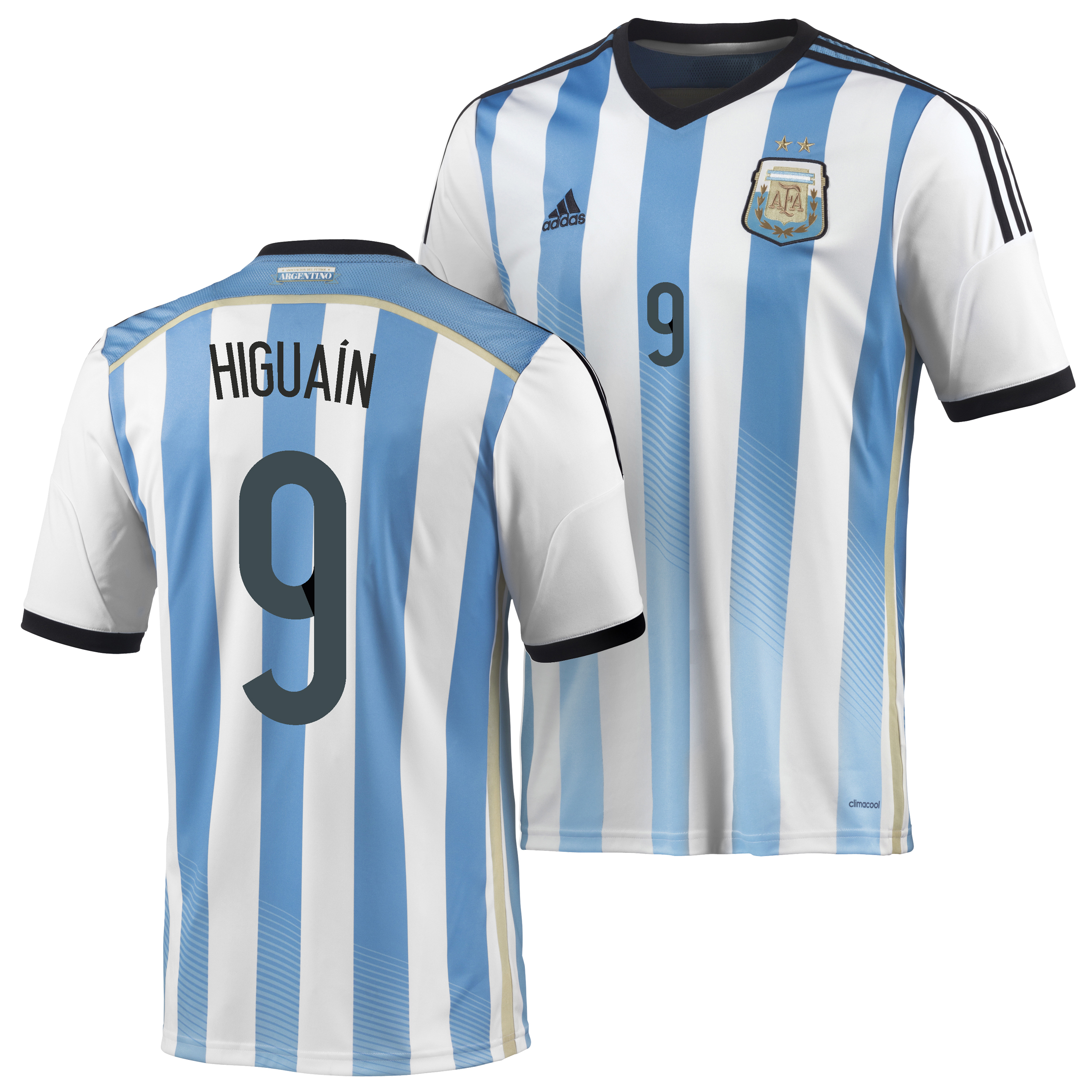 Argentina Home Shirt 2013/15 with Higuain 9 printing