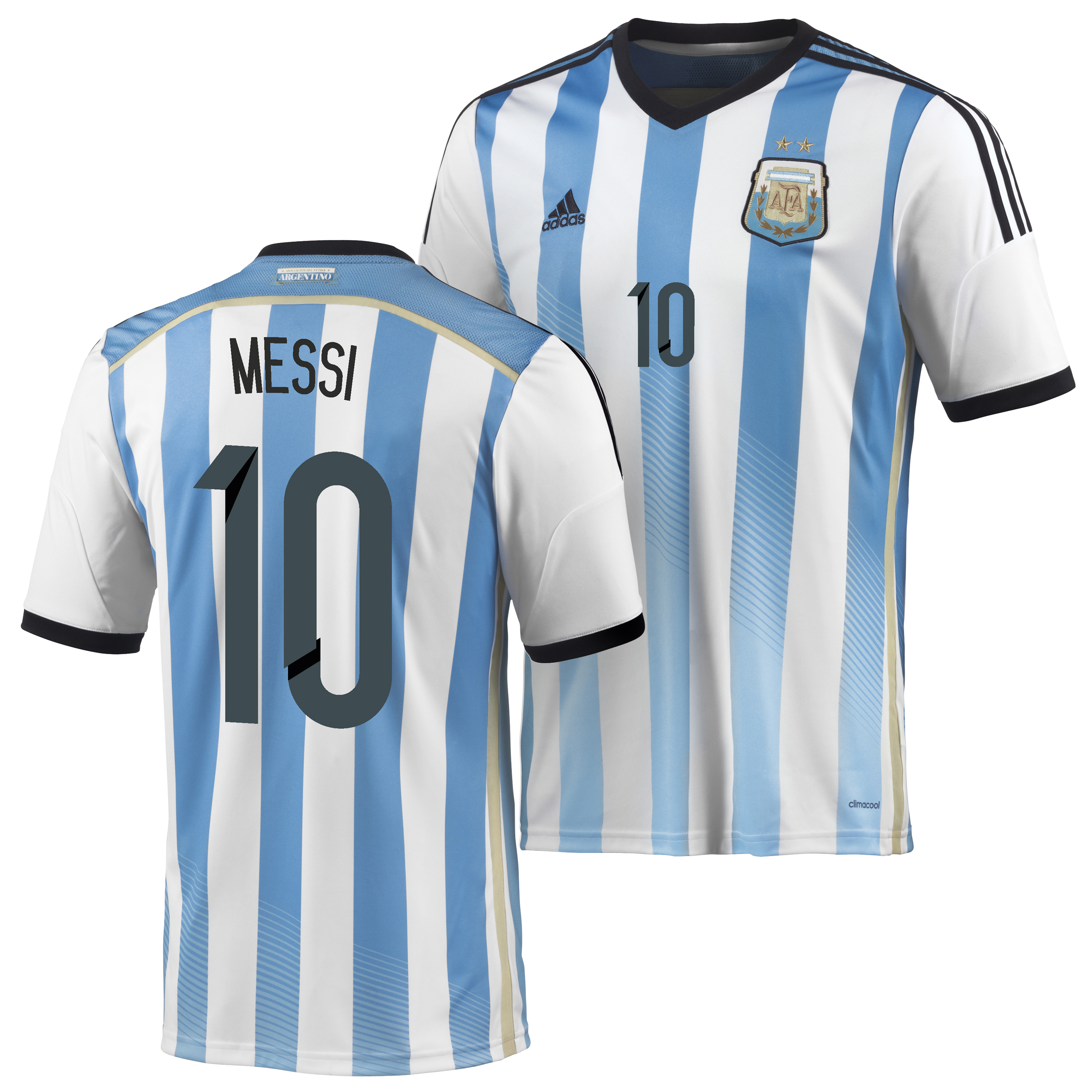 Argentina Home Shirt 2013/15 with Messi 10 printing
