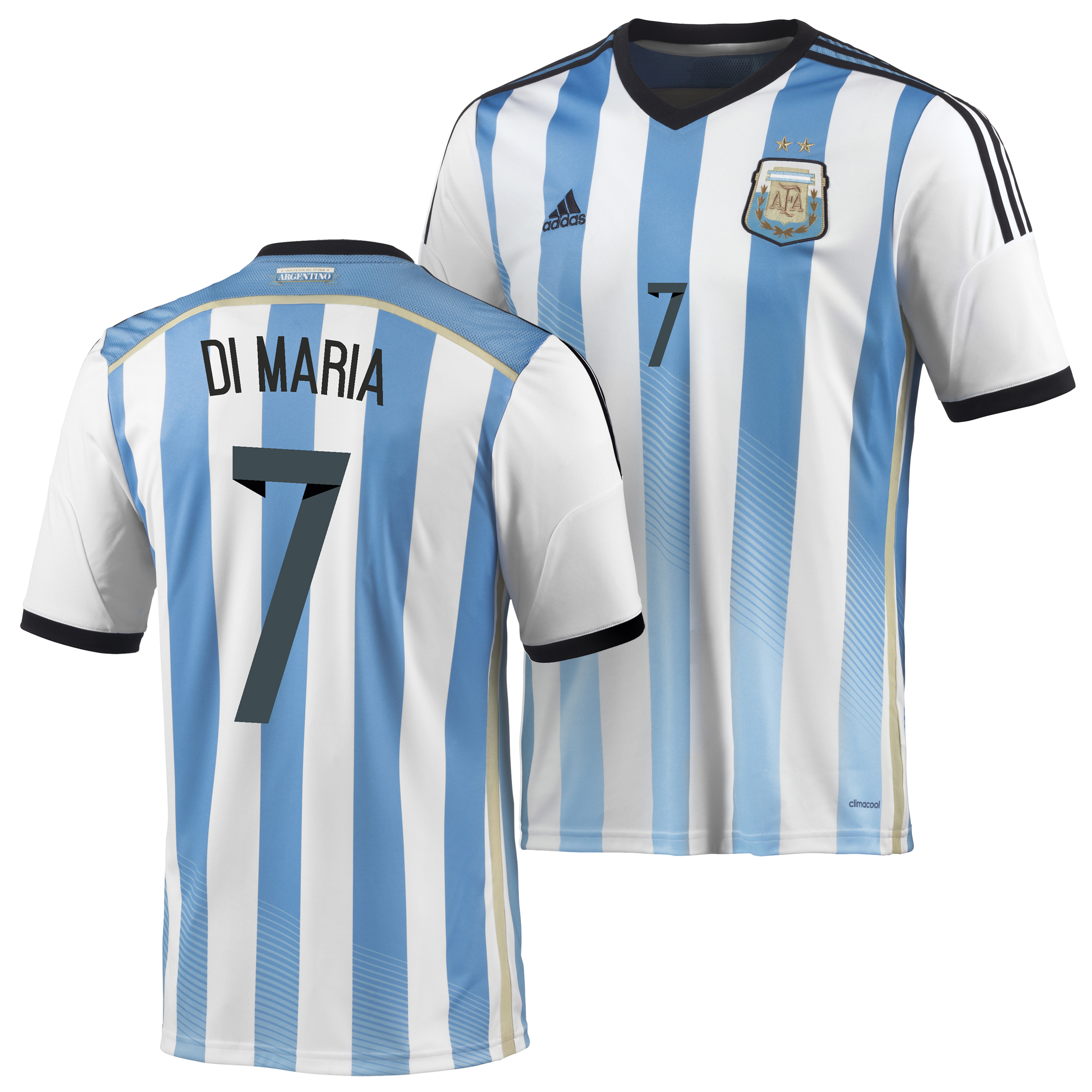 Argentina Home Shirt 2013/15 - Kids with Di Maria 7 printing