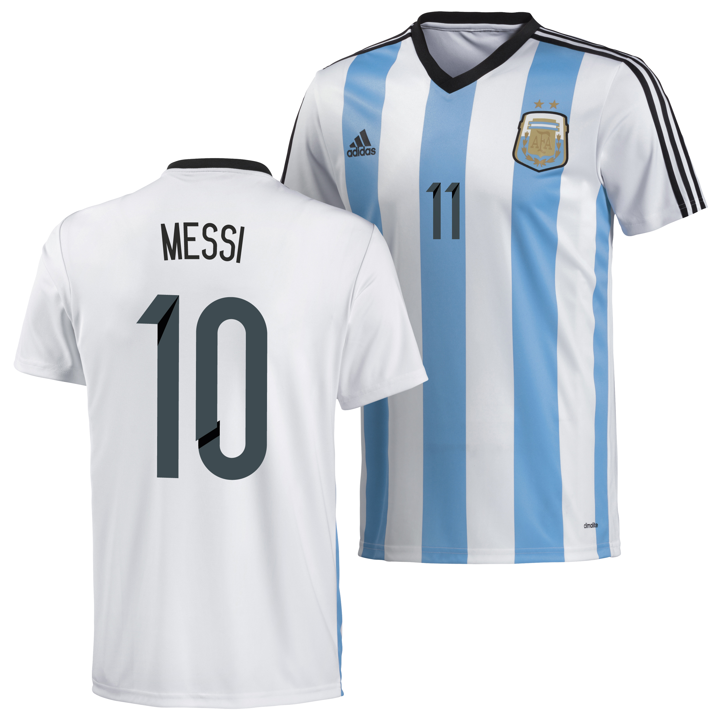 Argentina Home Replica T-Shirt 2013/14 with Messi 10 printing