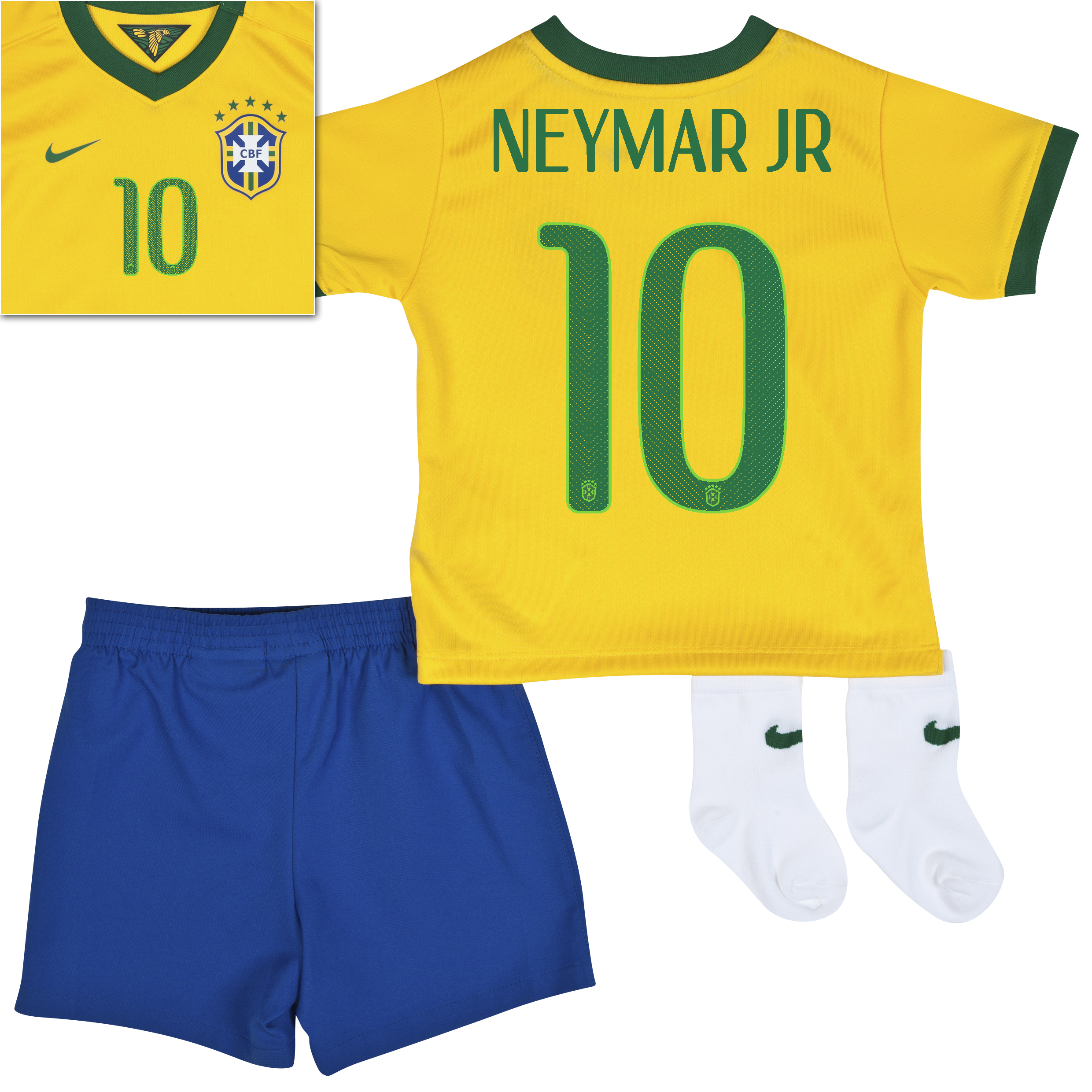 Brazil Home Kit 2013/15 - Little Boys Yellow with Neymar Jr 10 printing