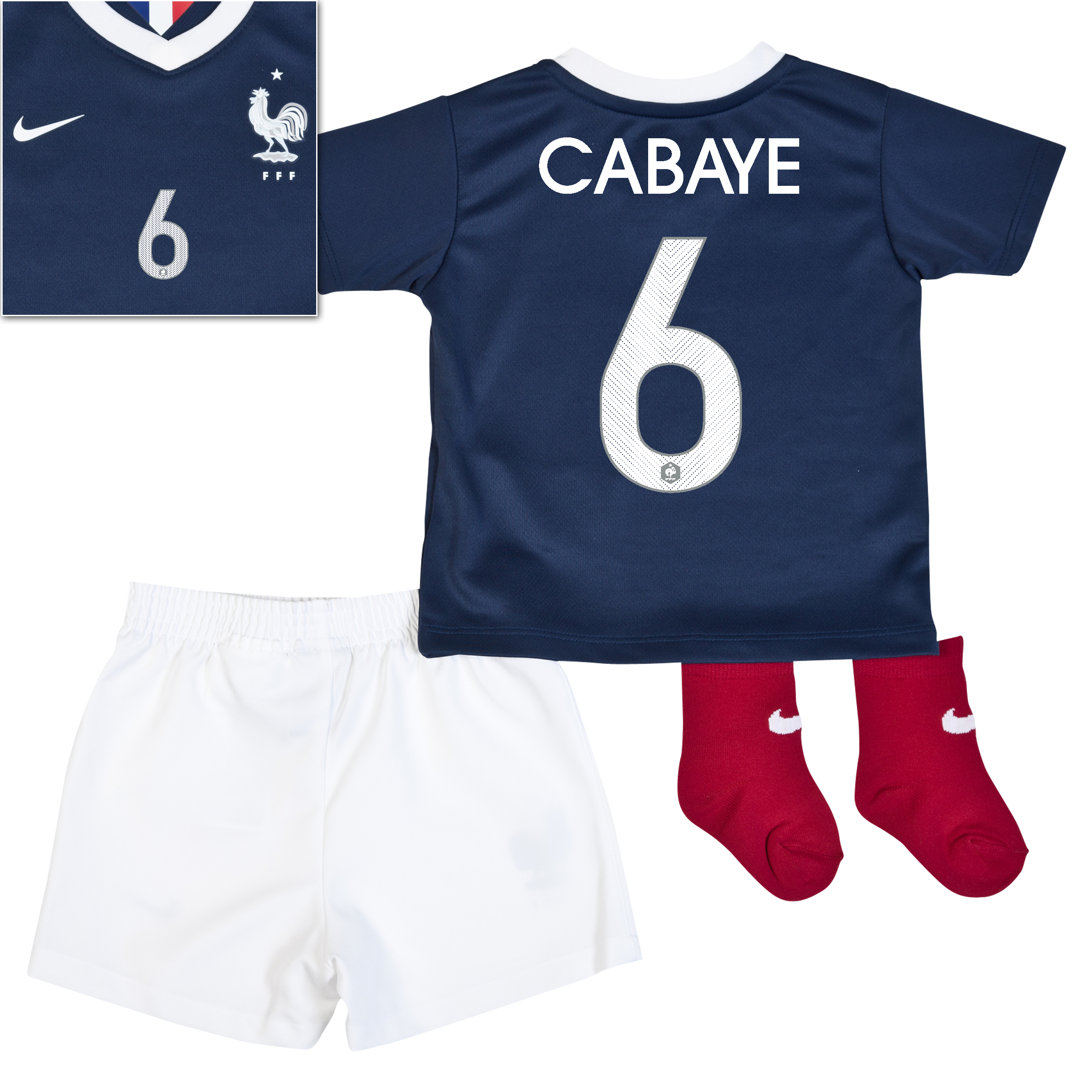 France Home Kit 2013/15 - Little Boys Navy with Cabaye 6 printing